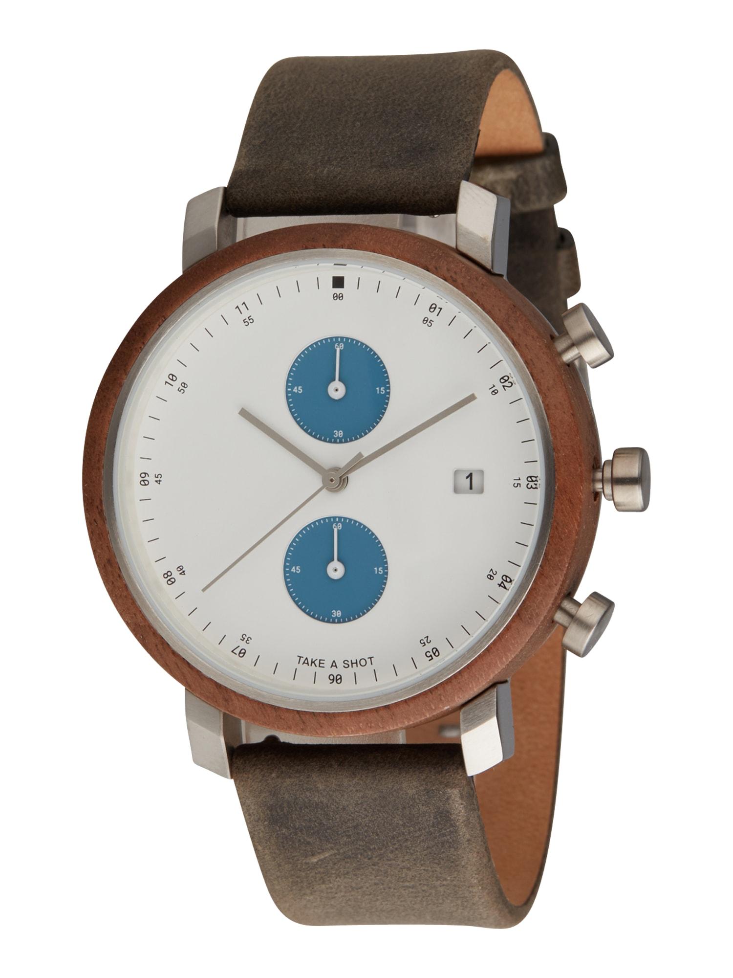 TAKE A SHOT Analoginis (įprastinio dizaino) laikrodis 'Humphrey' ruda