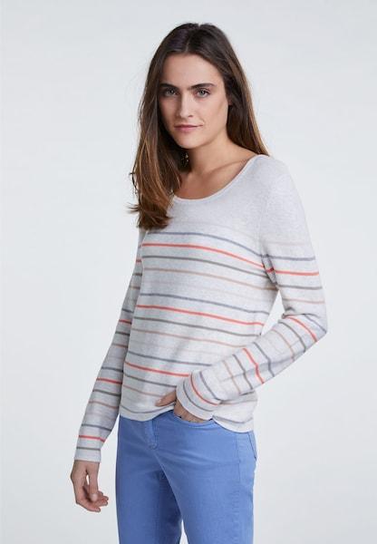 Oberteile - Pullover › Oui › pastellblau grau pastellorange  - Onlineshop ABOUT YOU