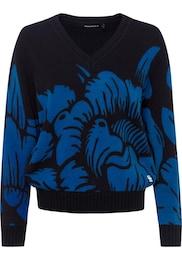 G-STAR,G-STAR RAW Damen Pullover Sangona flower blau,schwarz | 08719764268350