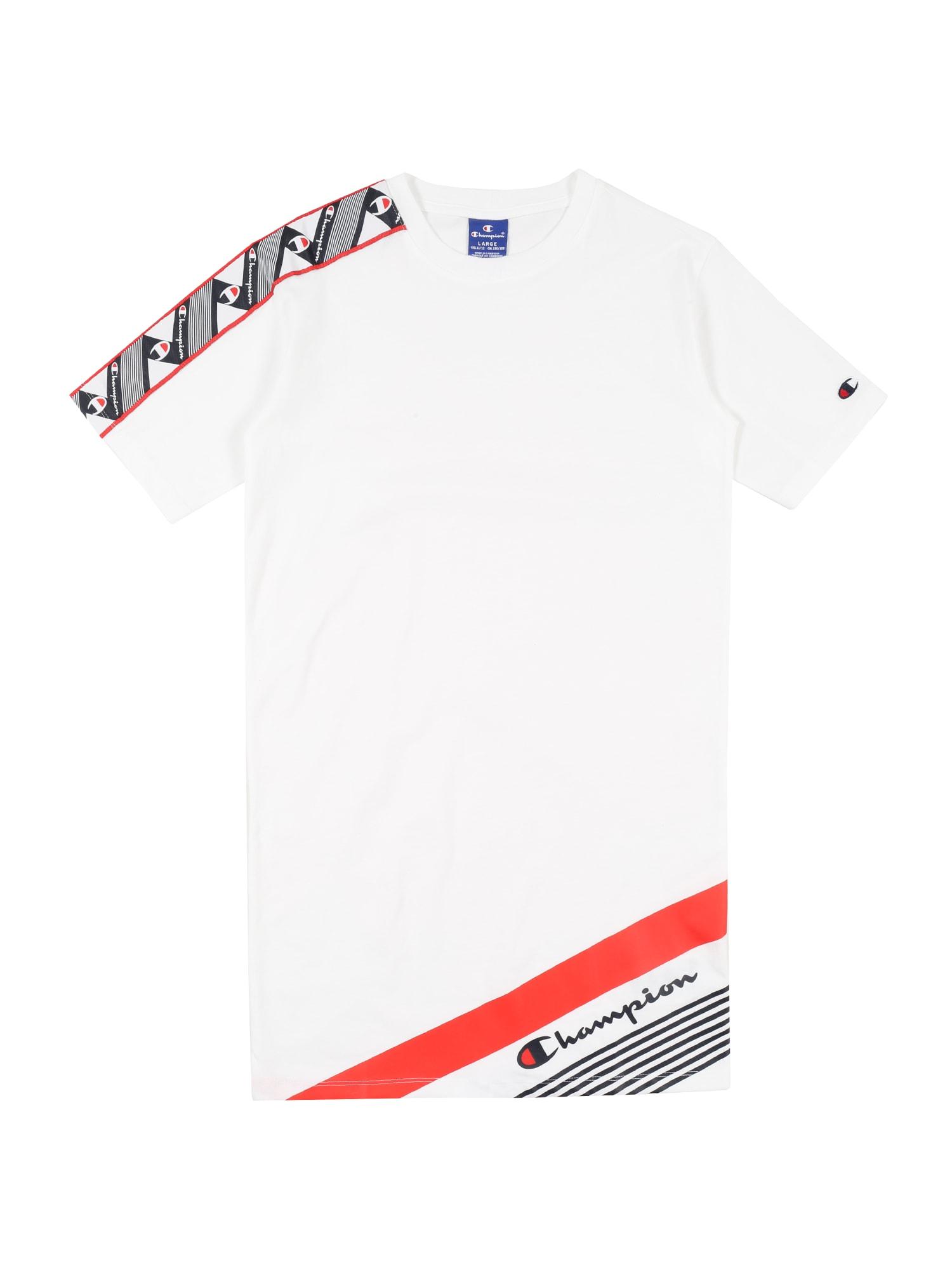 Champion Authentic Athletic Apparel Suknelė balta / šviesiai raudona / juoda