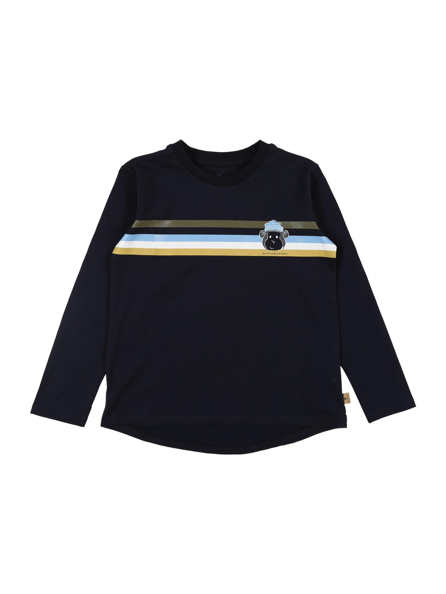 BELLYBUTTON Marškinėliai tamsiai mėlyna / rusvai žalia / balta / šviesiai mėlyna / citrinos spalva
