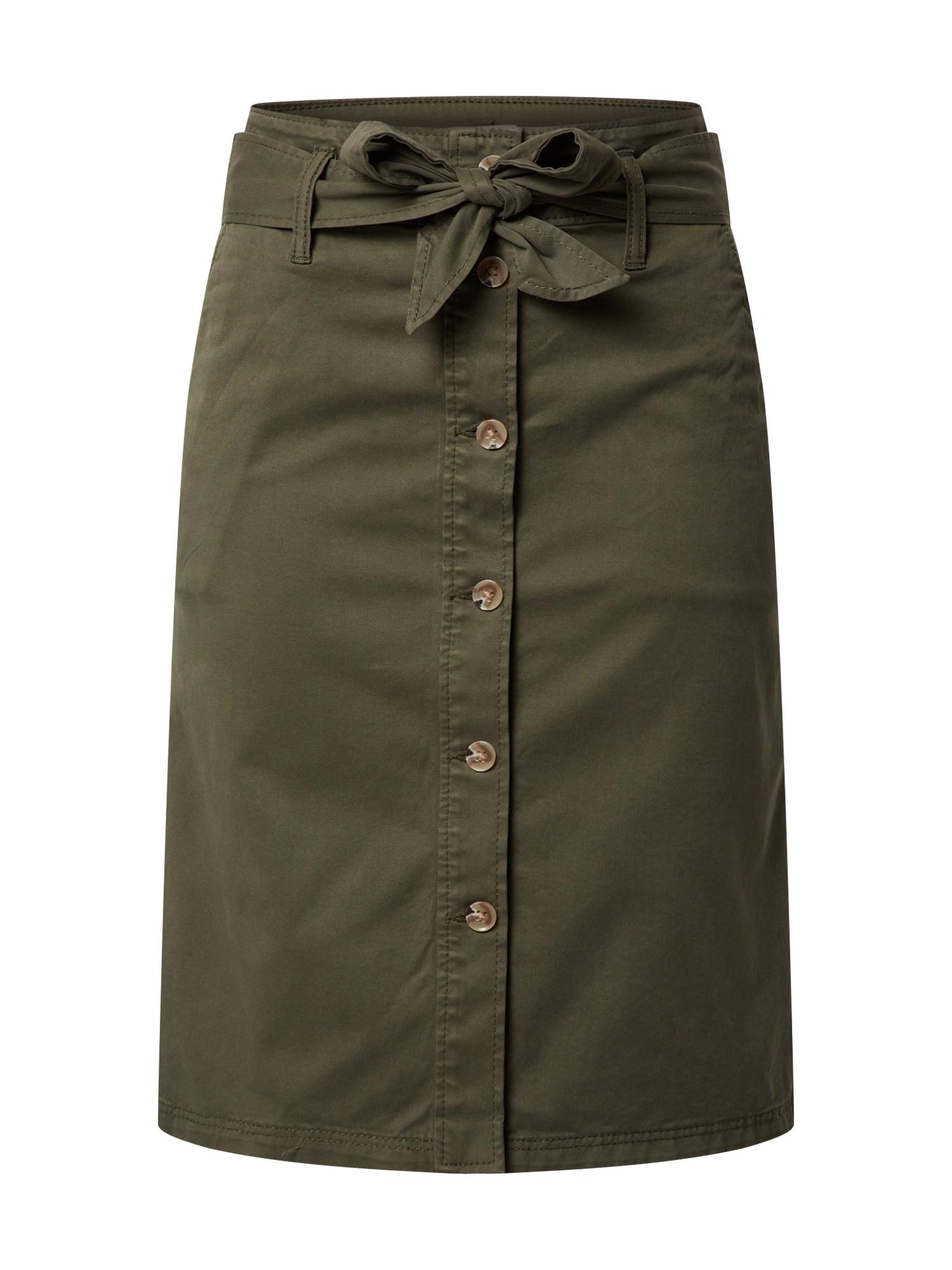 Marc O'Polo DENIM Džegingsai 'Denim Trousers, High Waist, Straight Wid' alyvuogių spalva