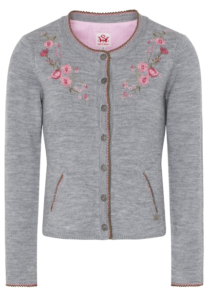 Jacken - Strickjacke 'Melone' › SPIETH WENSKY › graumeliert rosa  - Onlineshop ABOUT YOU