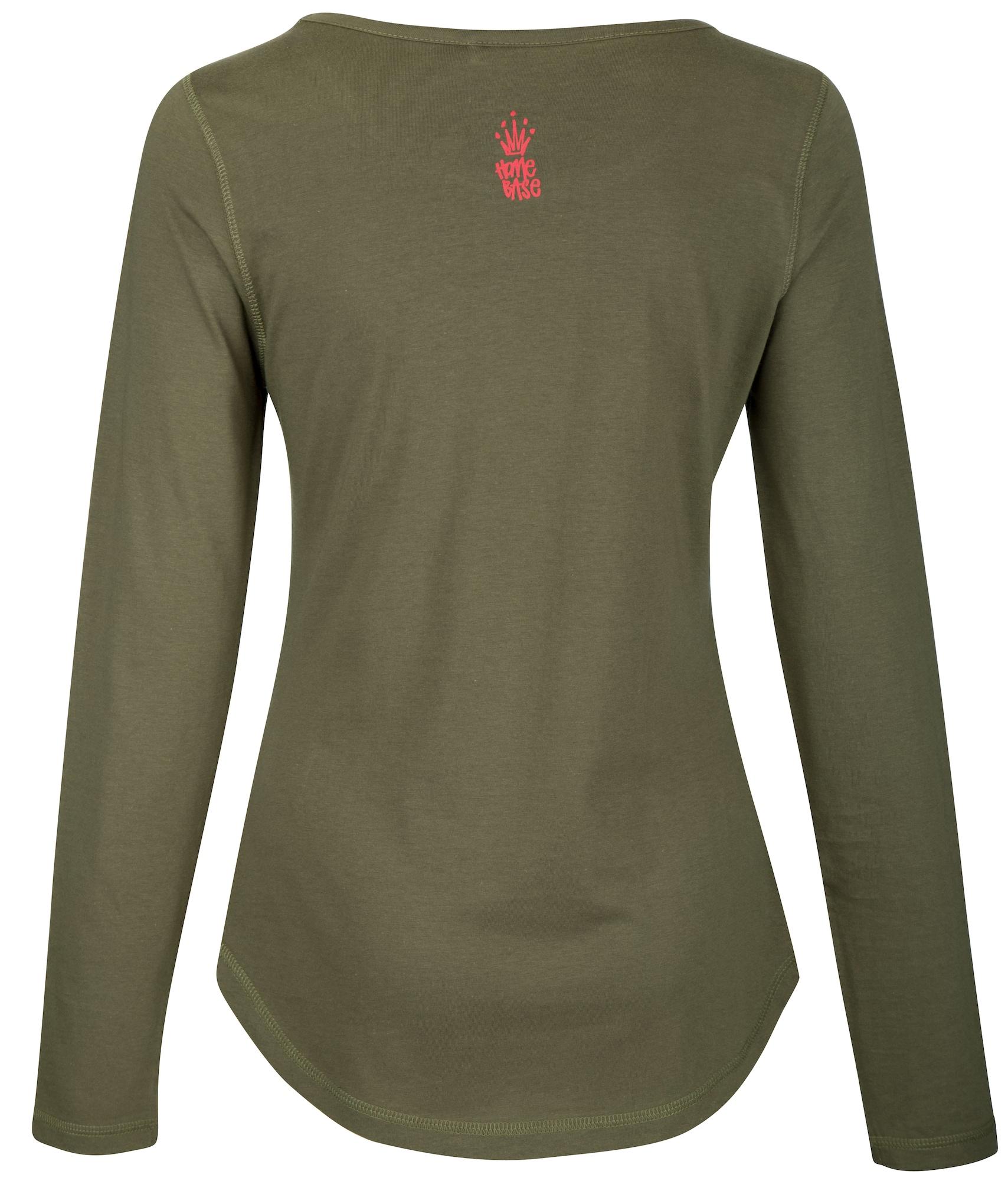HOMEBASE, Damen Shirt Brandalised by Homebase, groen / olijfgroen