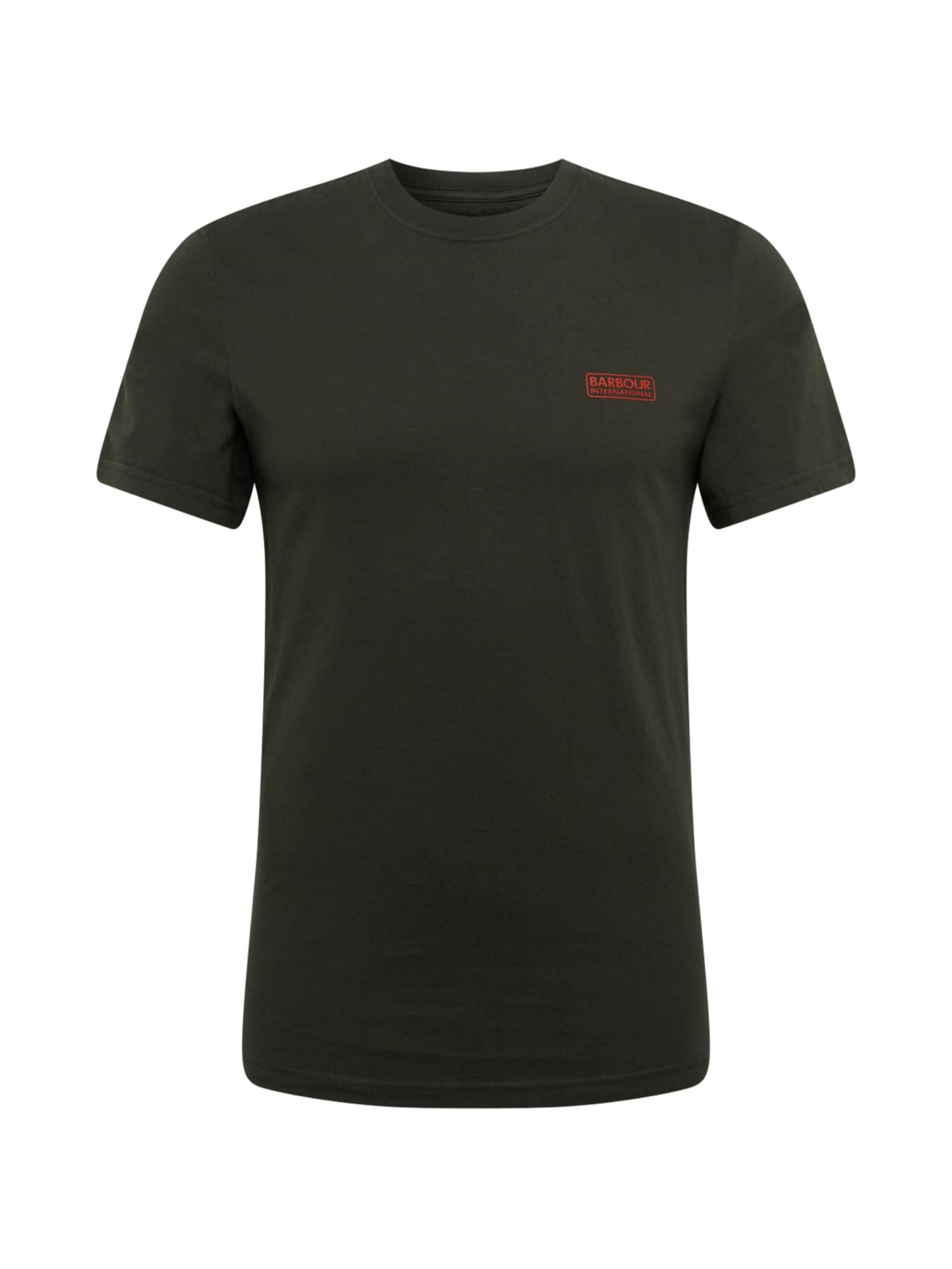 Barbour International Marškinėliai 'International Small Logo Tee' tamsiai žalia