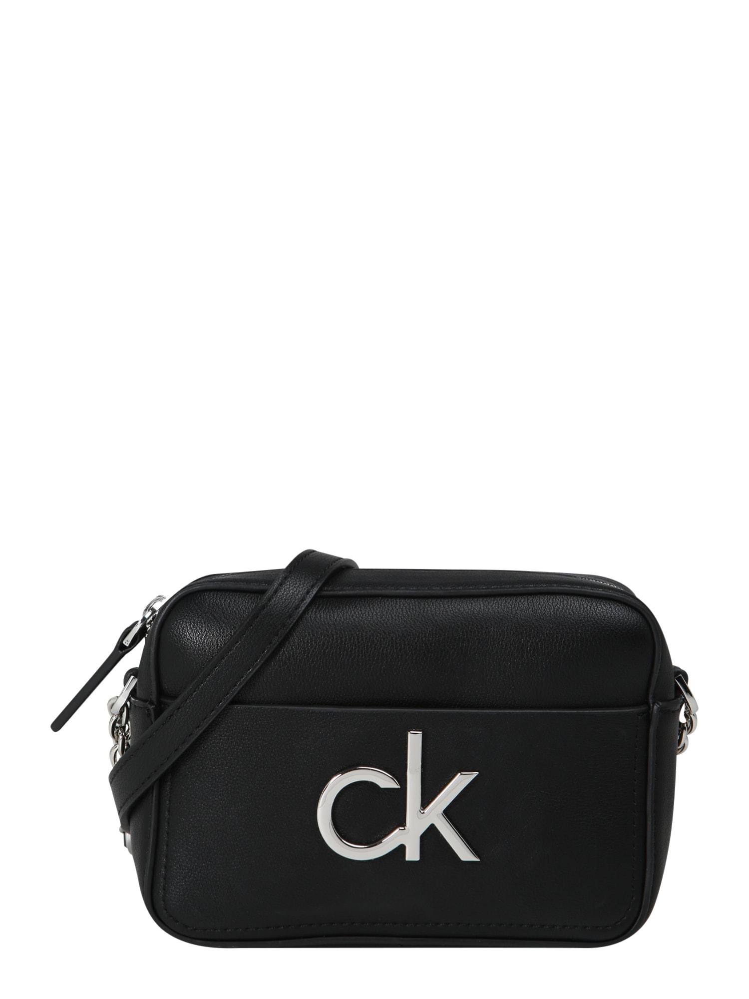 Calvin Klein Fotoaparato dėklas sidabrinė / juoda