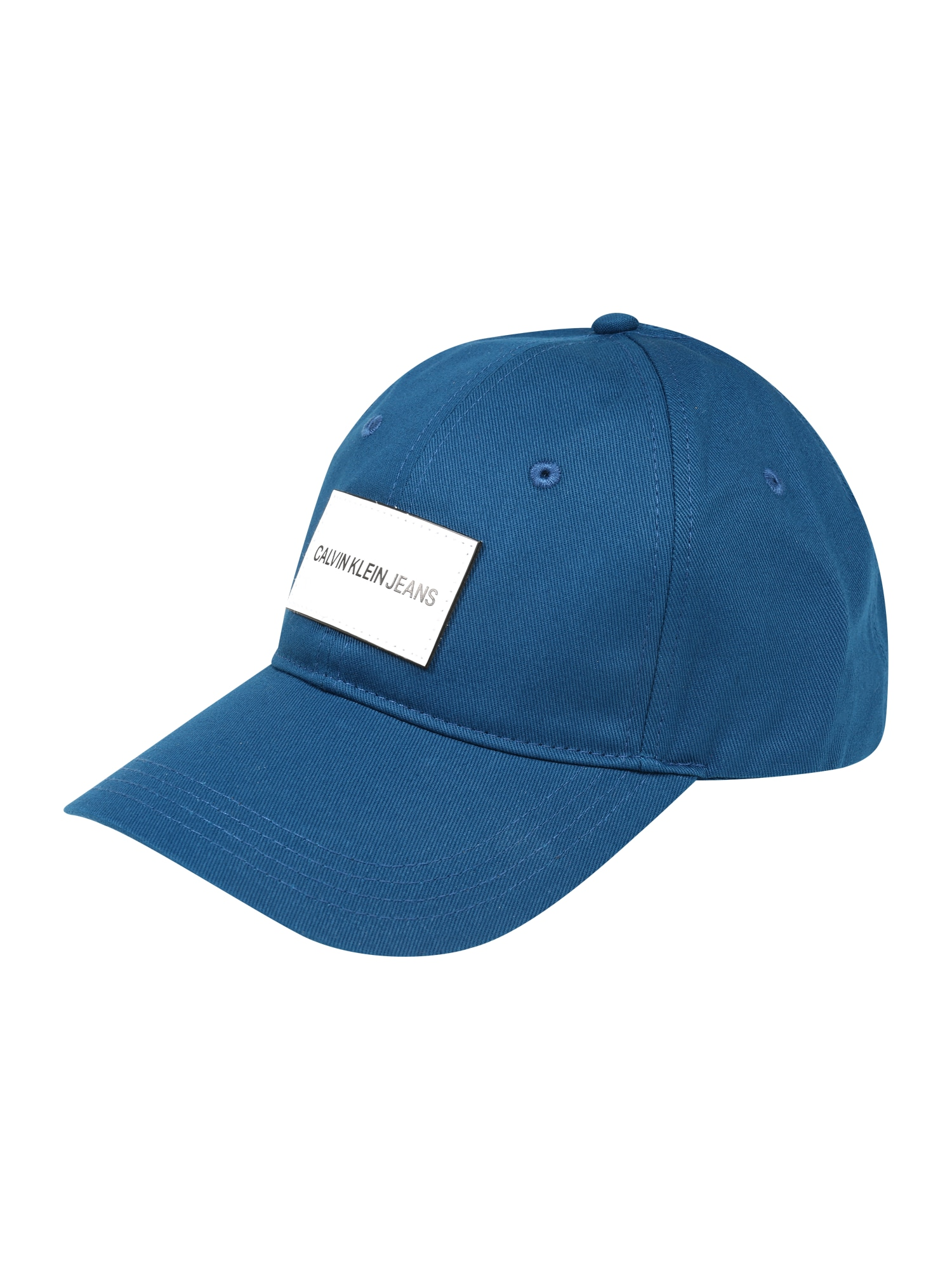 Calvin Klein Jeans Kepurė 'J INSTITUTIONAL CAP W LE PATCH' mėlyna
