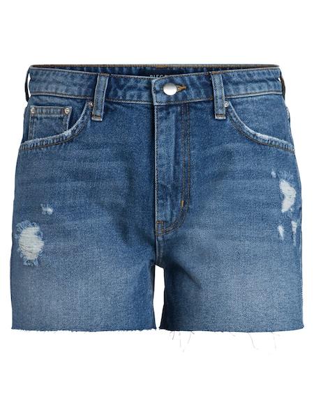 Hosen für Frauen - PIECES Low Waist Boyfriend Shorts blau  - Onlineshop ABOUT YOU