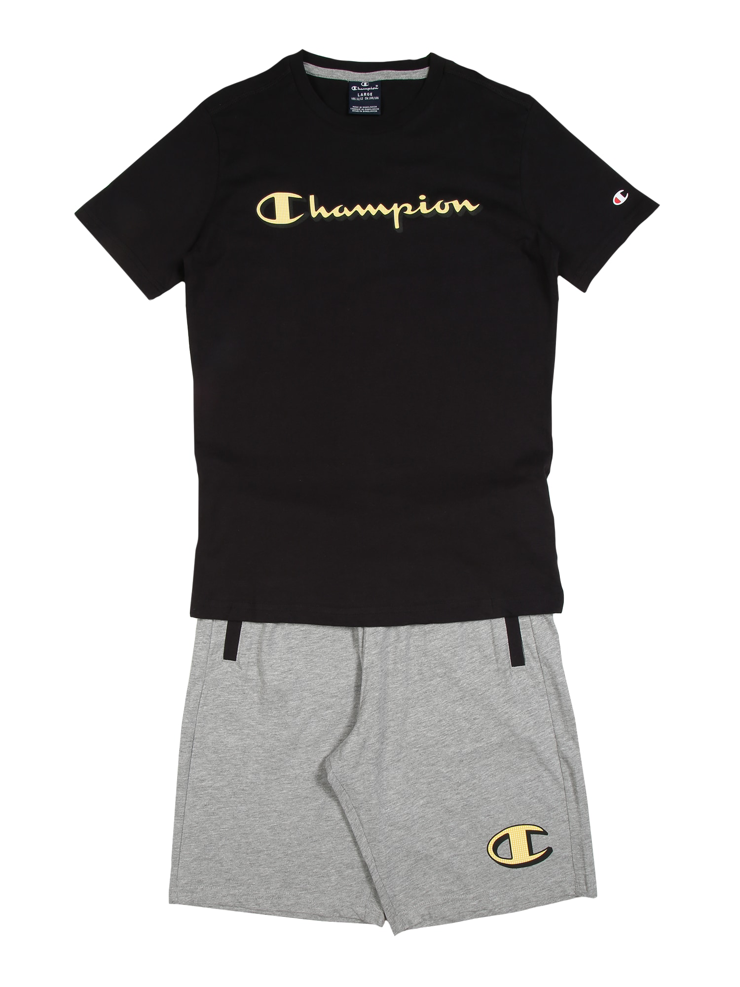 Champion Authentic Athletic Apparel Rinkinys juoda / pilka