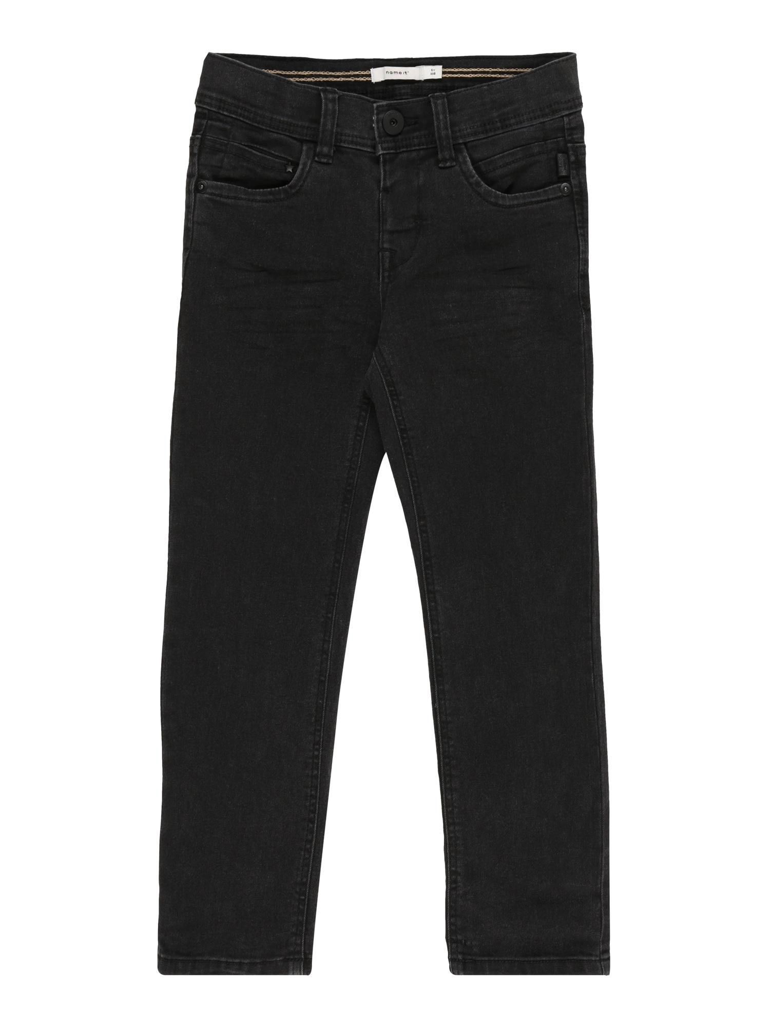 NAME IT Džinsai 'NMMRYAN DNMCARTUS 7303 PANT CAMP' juodo džinso spalva