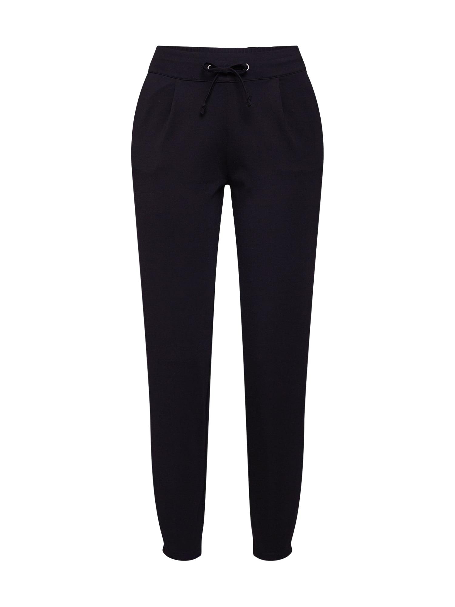JACQUELINE de YONG Klostuotos kelnės 'Pretty' juoda