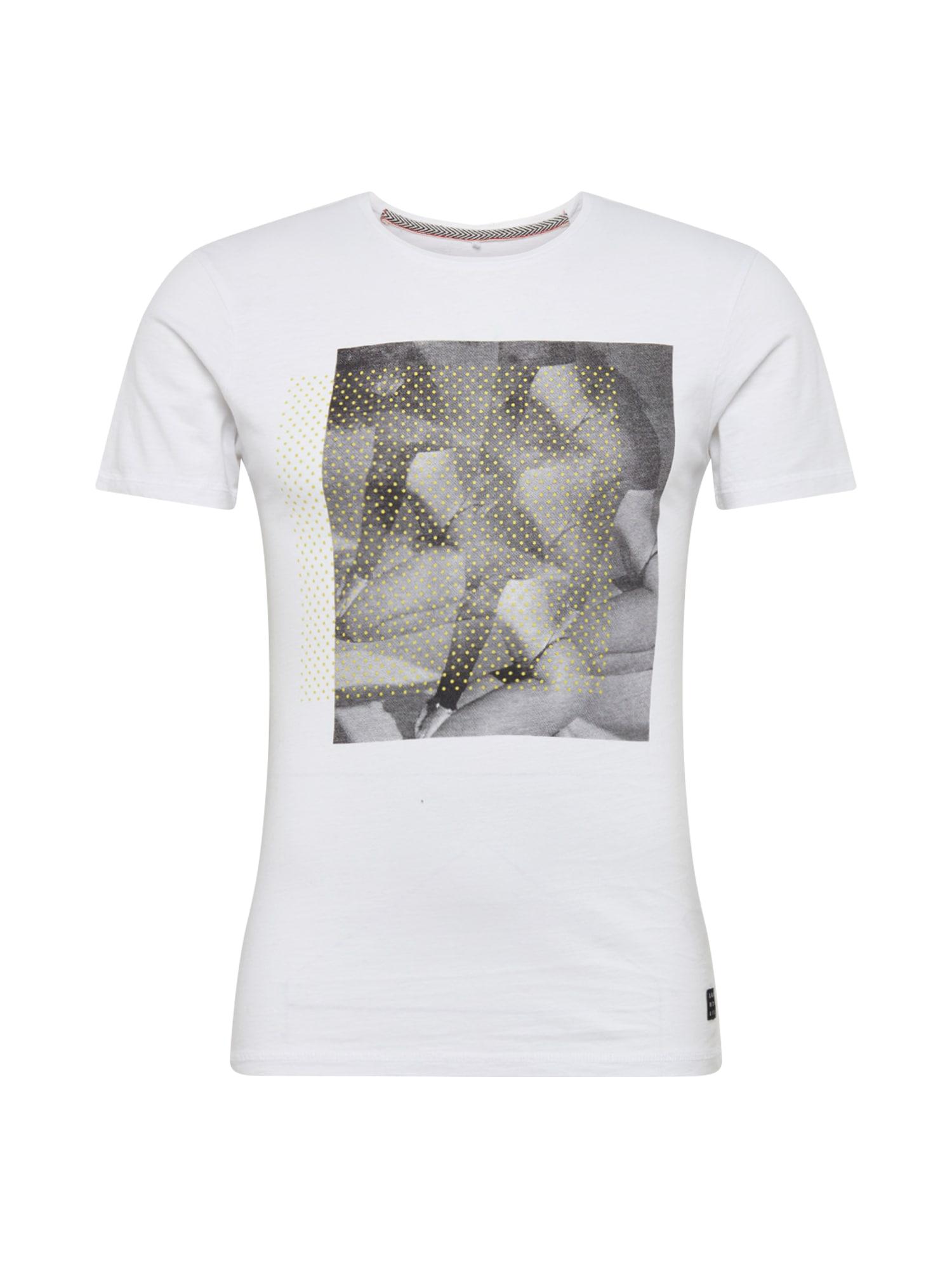 BLEND Marškinėliai balta / mišrios spalvos