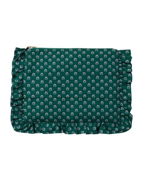 Clutches für Frauen - IVY OAK Ruffle Clutch smaragd mischfarben  - Onlineshop ABOUT YOU