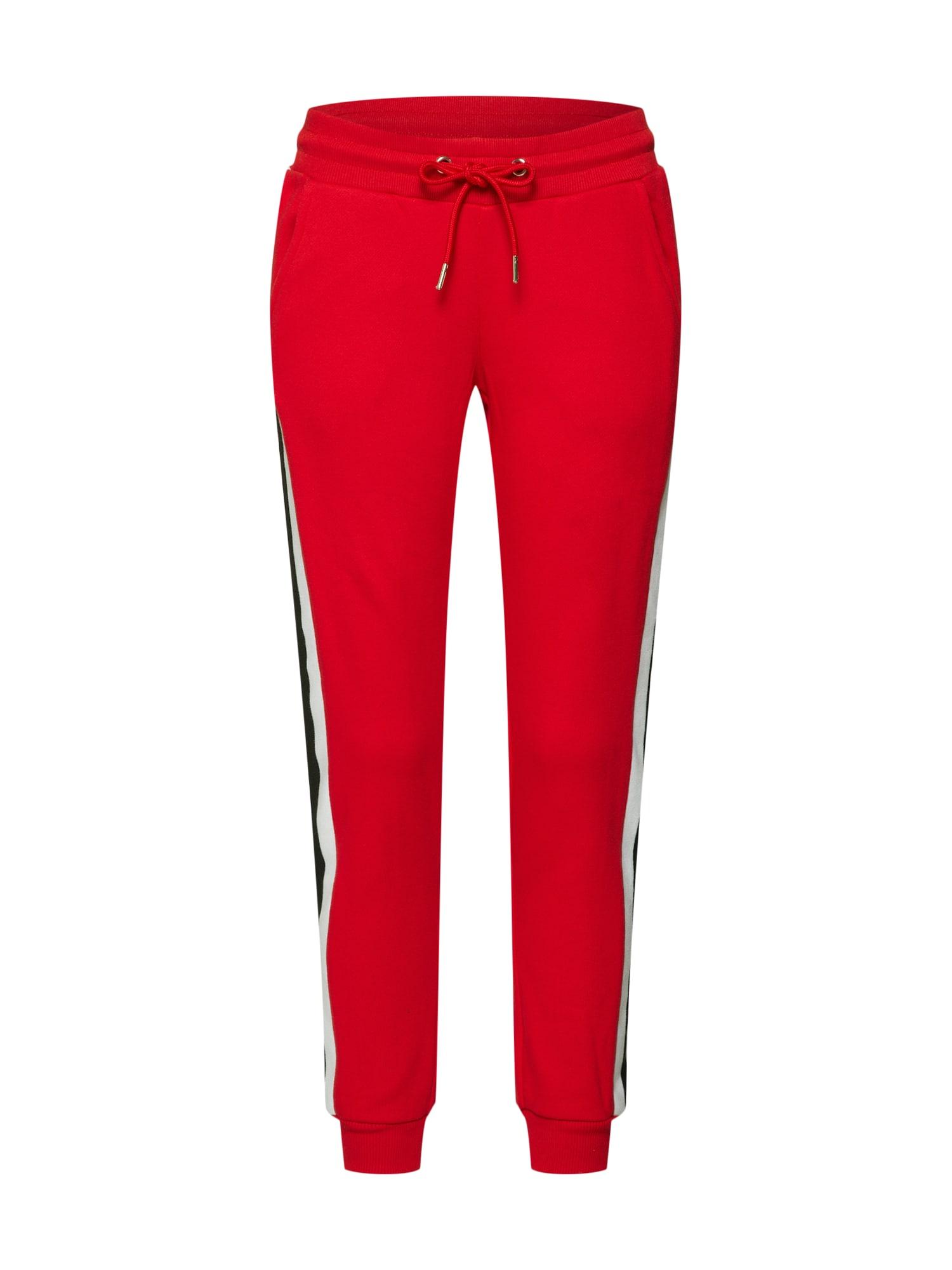 Urban Classics Pantaloni  roșu / negru / alb