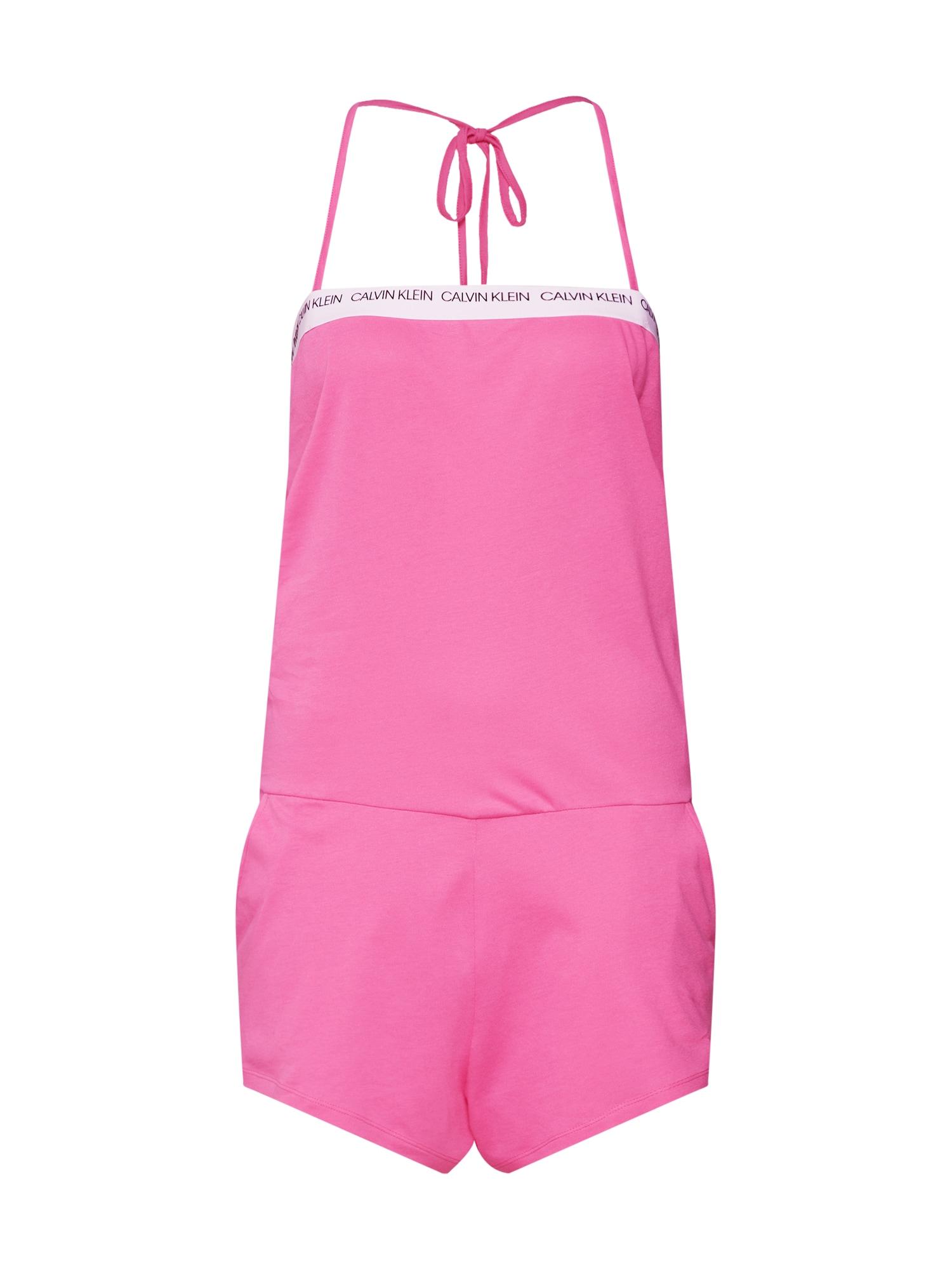 Pyžamo BANDEAU ROMPER růžová Calvin Klein Swimwear