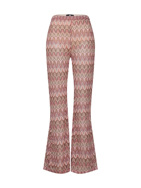 Hosen für Frauen - Missguided Damen Hosen 'Chevron Print Flared Trouser' braun rosa weiß  - Onlineshop ABOUT YOU