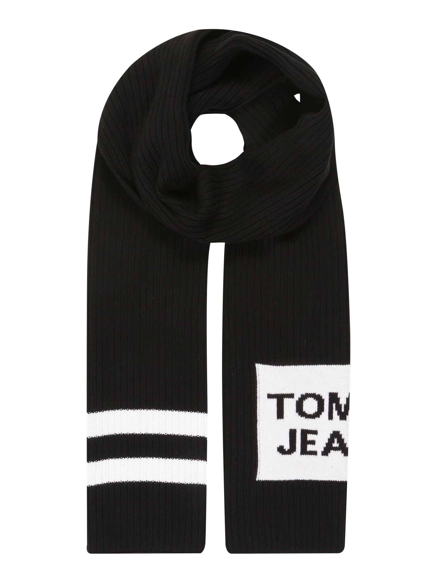 Tommy Jeans Fular ' WARM LOGO SCARF'  negru