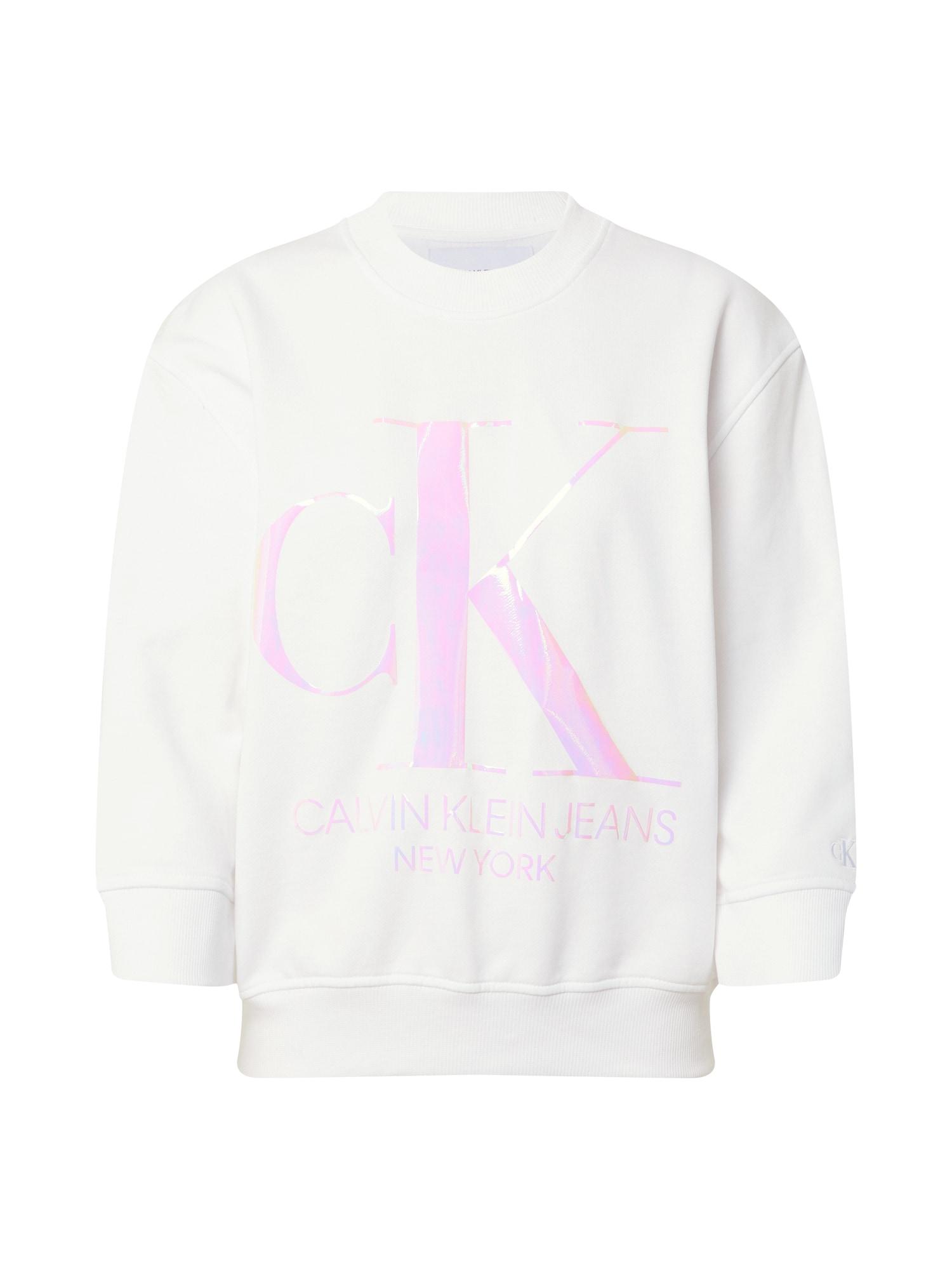 Calvin Klein Mikina 'Iridscent'  svetloružová / biela