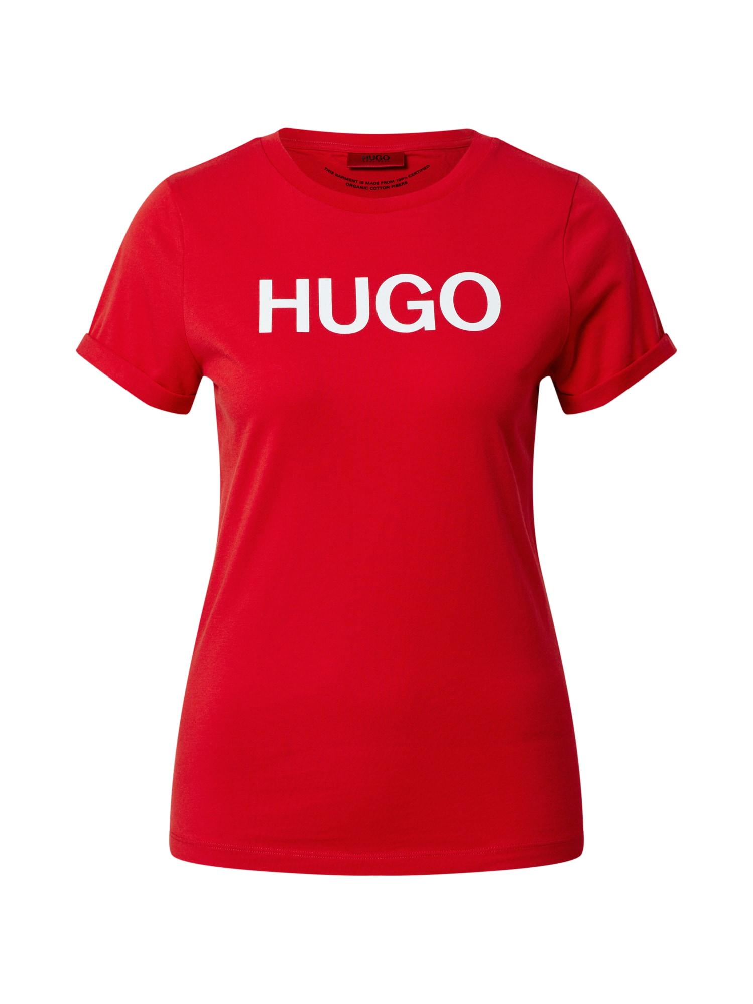 HUGO Marškinėliai balta / raudona