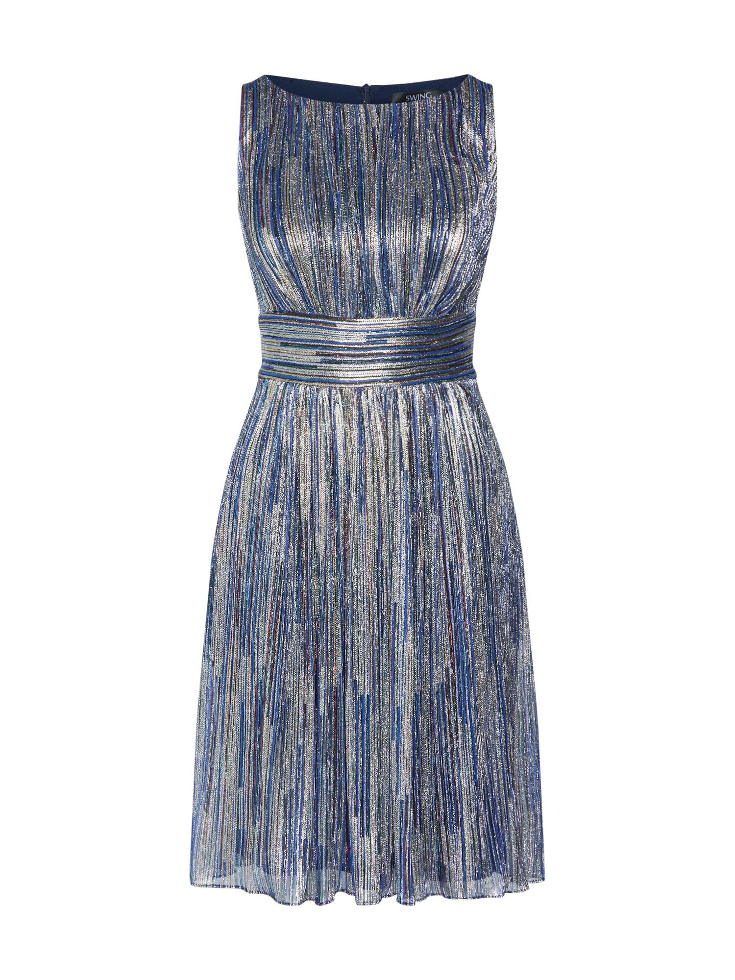 SWING Kokteilinė suknelė mėlyna / mišrios spalvos