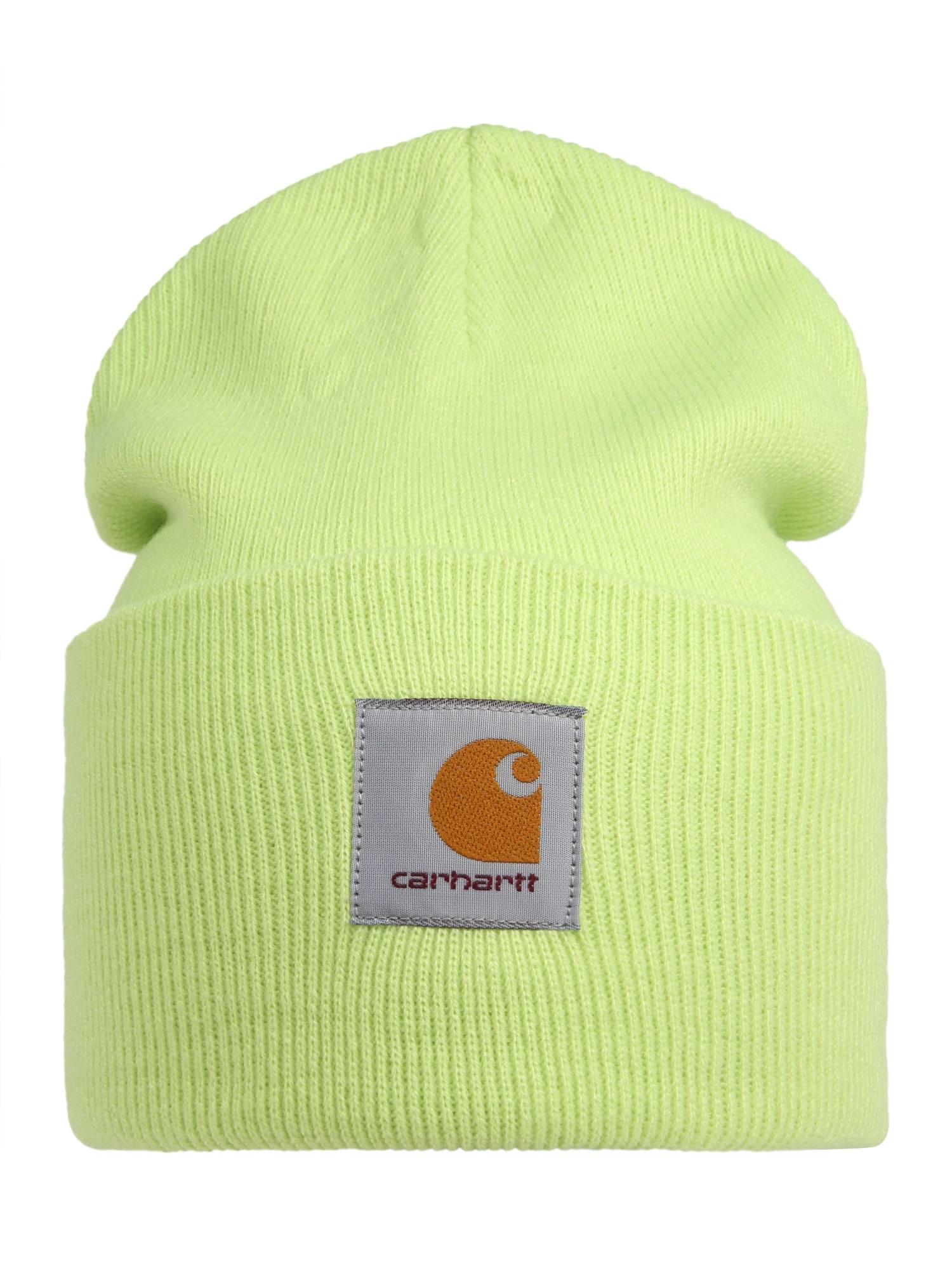Carhartt WIP Megzta kepurė žaliosios citrinos spalva