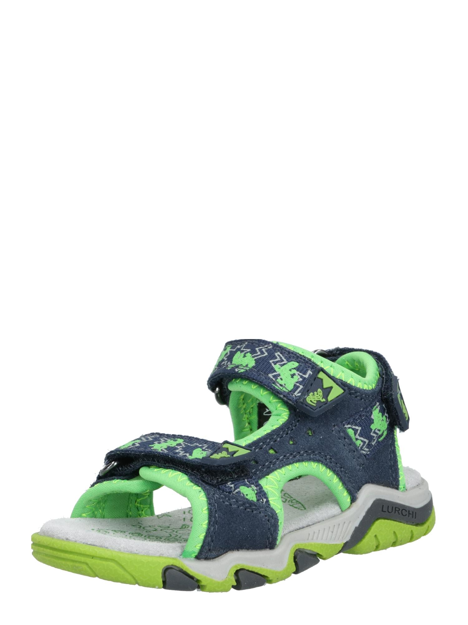 LURCHI Atviri batai žalia / tamsiai mėlyna