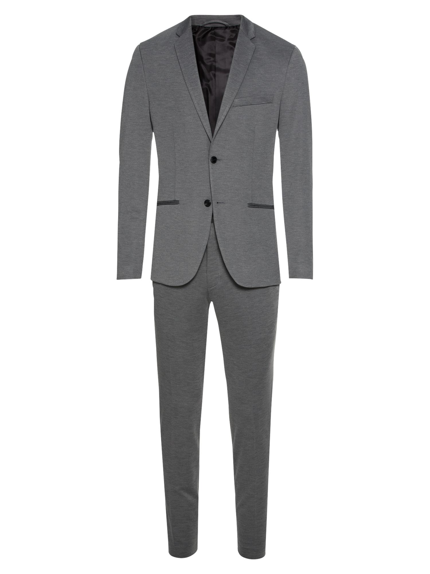 Oblek JPRSTEVEN SUIT šedý melír JACK & JONES