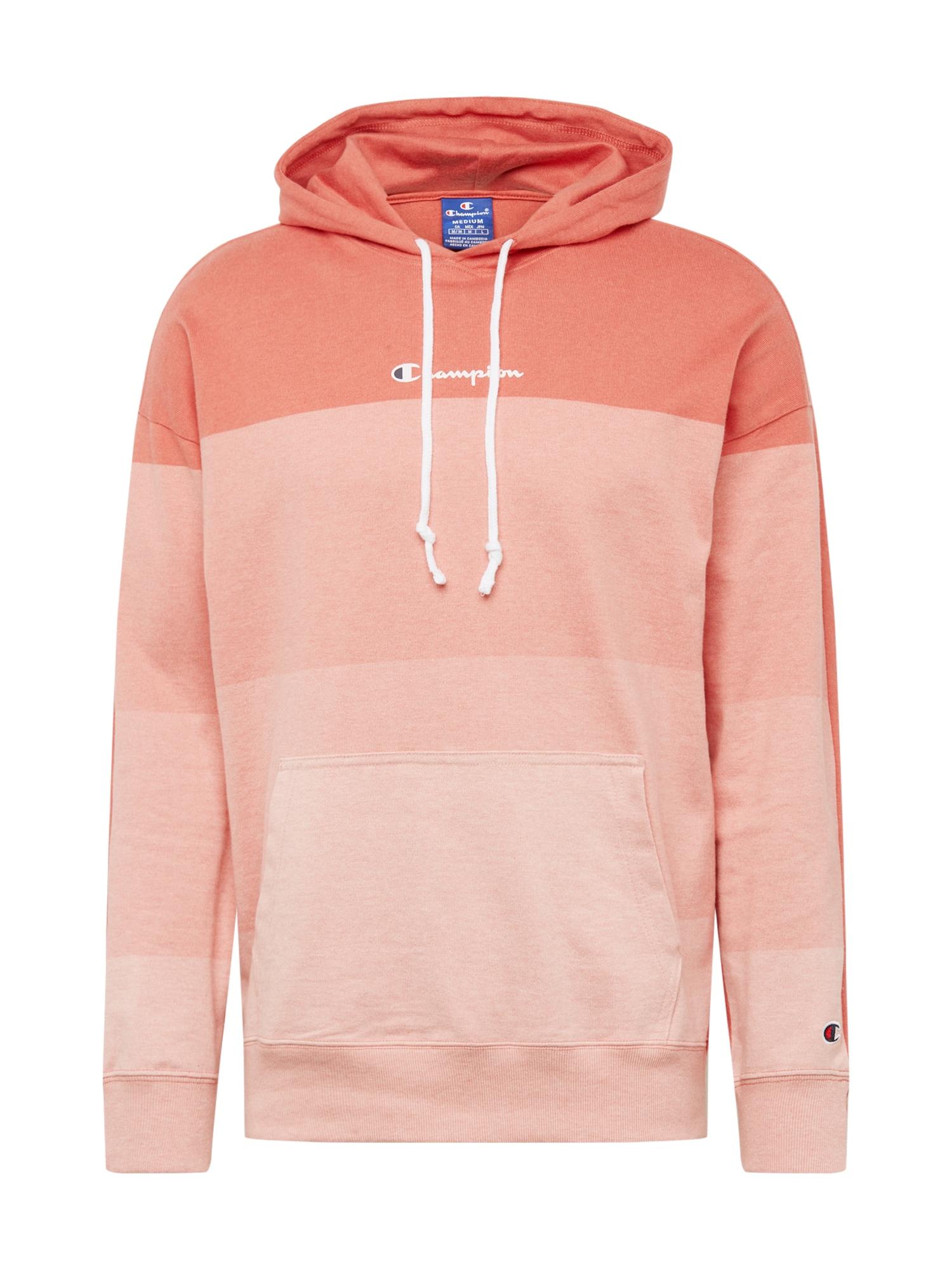 Champion Authentic Athletic Apparel Megztinis be užsegimo šviesiai rožinė / lašišų spalva / koralų splava
