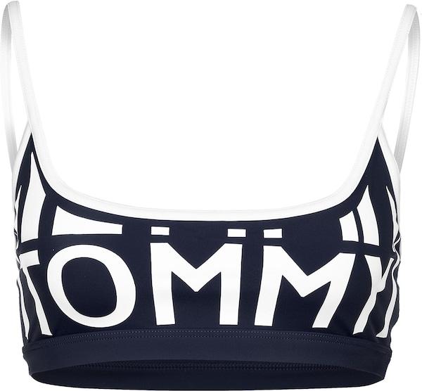 Bademode - Bikini Oberteil ' W ' › Tommy Hilfiger › dunkelblau weiß  - Onlineshop ABOUT YOU