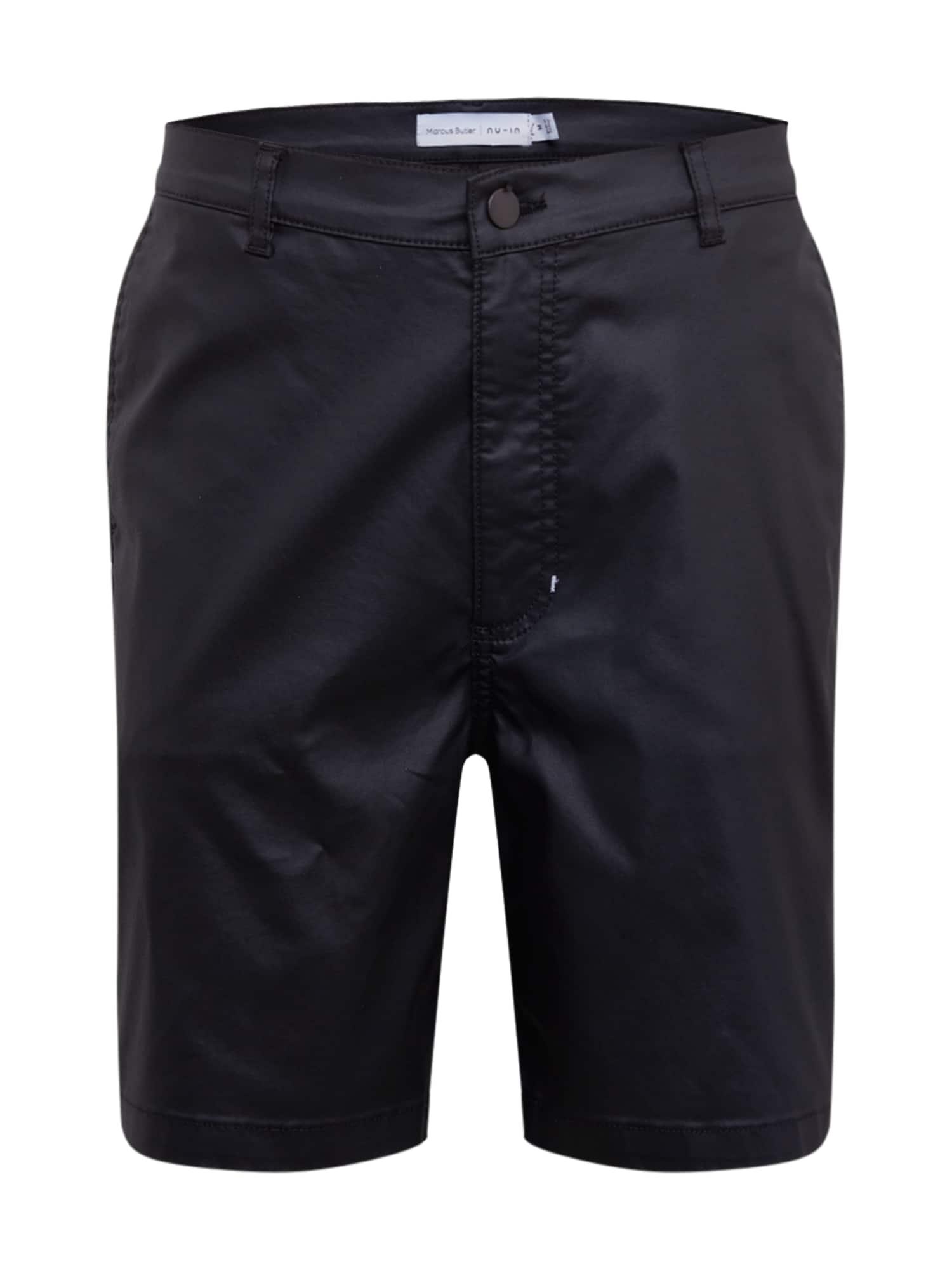 NU-IN Kelnės juodo džinso spalva