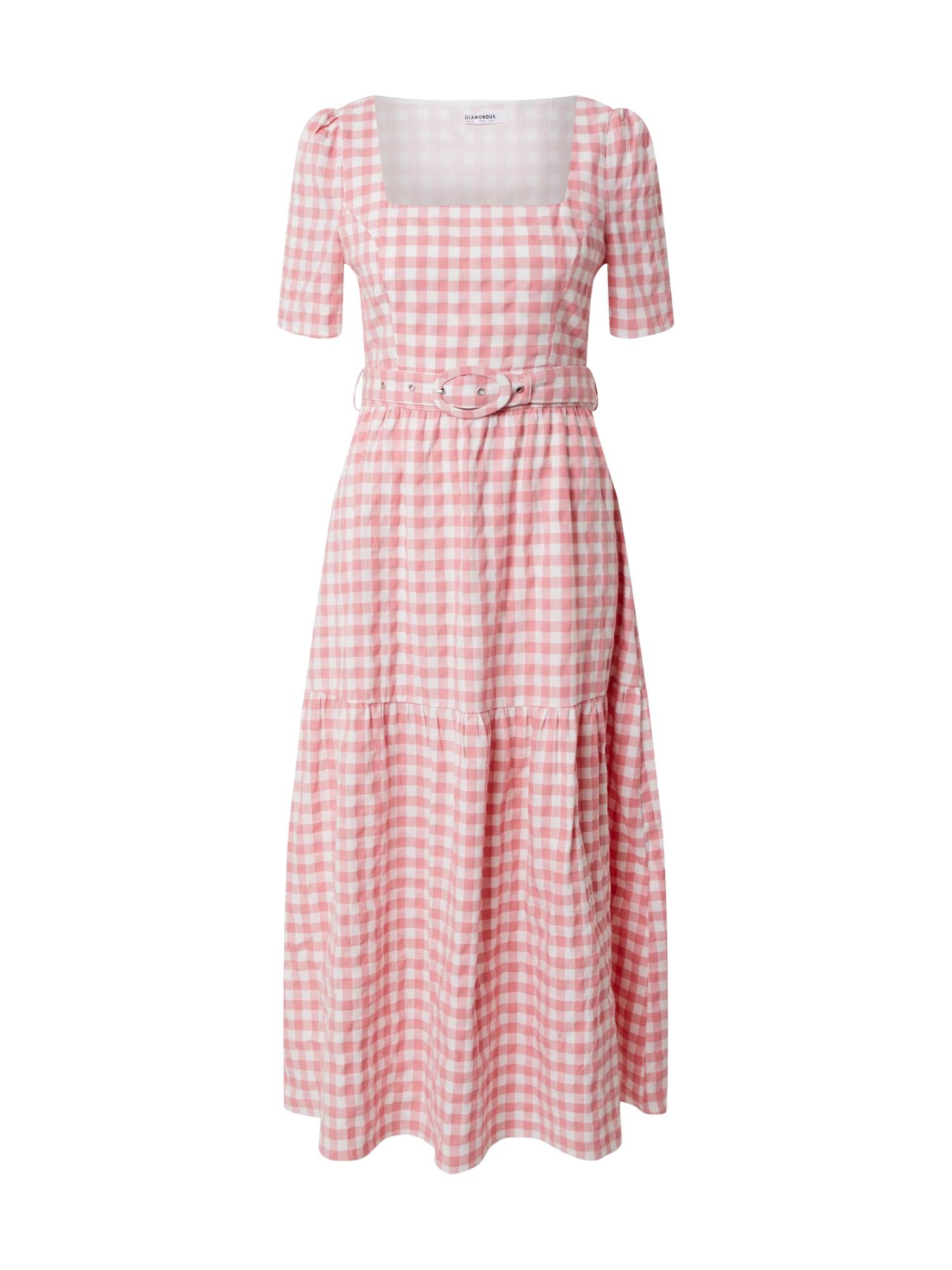 GLAMOROUS Suknelė balta / rožinė