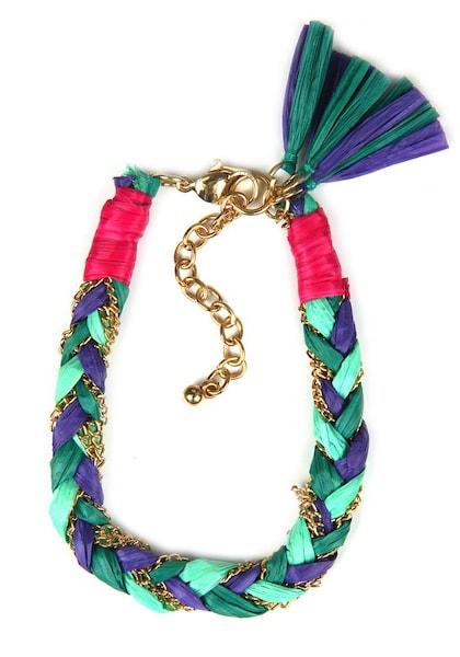 Armbaender - Armband › J. Jayz › gold smaragd jade dunkellila neonpink  - Onlineshop ABOUT YOU