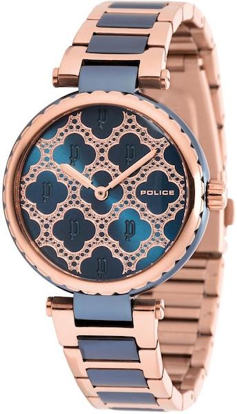 Uhren für Frauen - POLICE Quarzuhr 'BELLA' dunkelblau rosegold  - Onlineshop ABOUT YOU