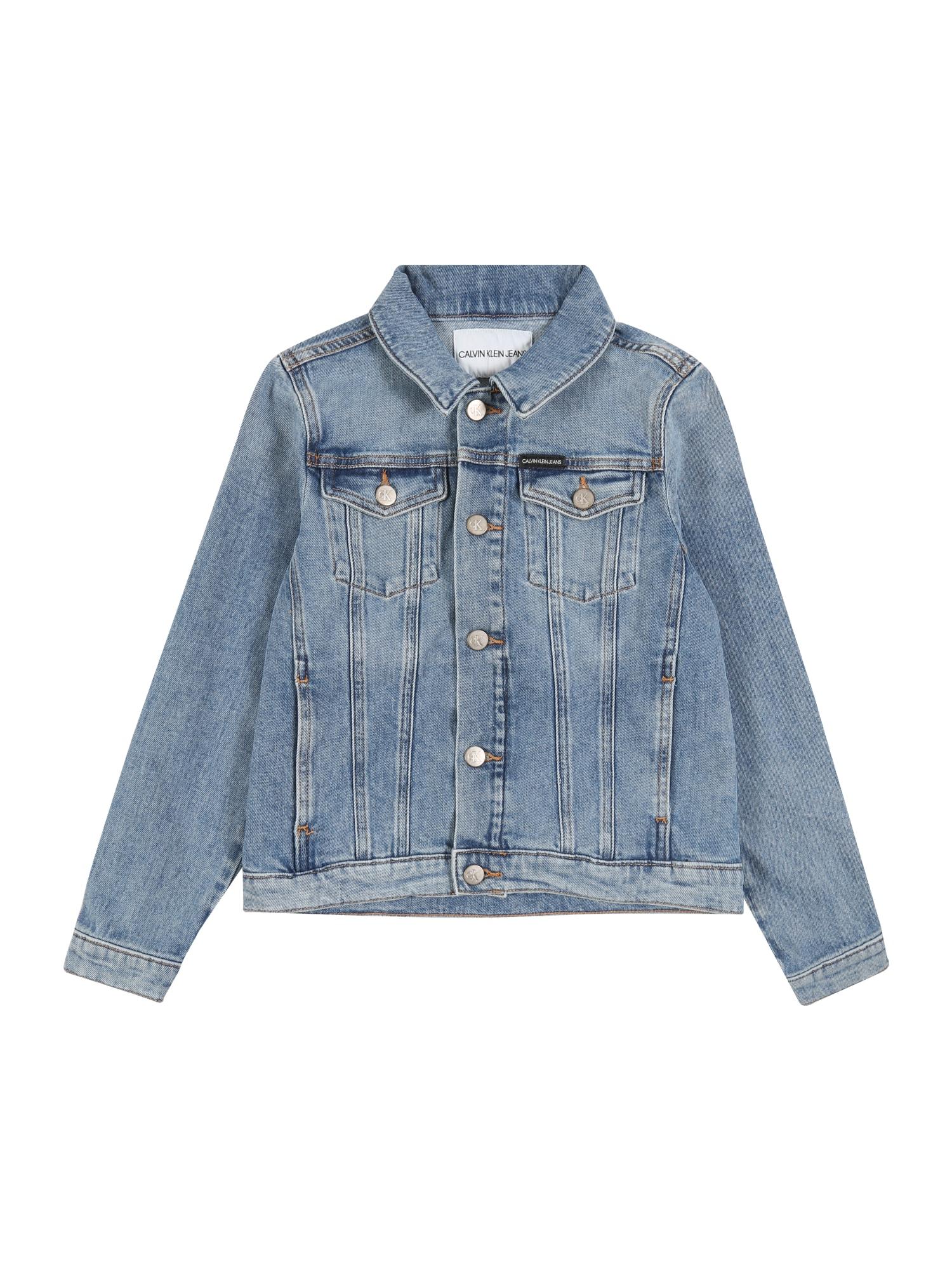 Calvin Klein Jeans Demisezoninė striukė tamsiai (džinso) mėlyna