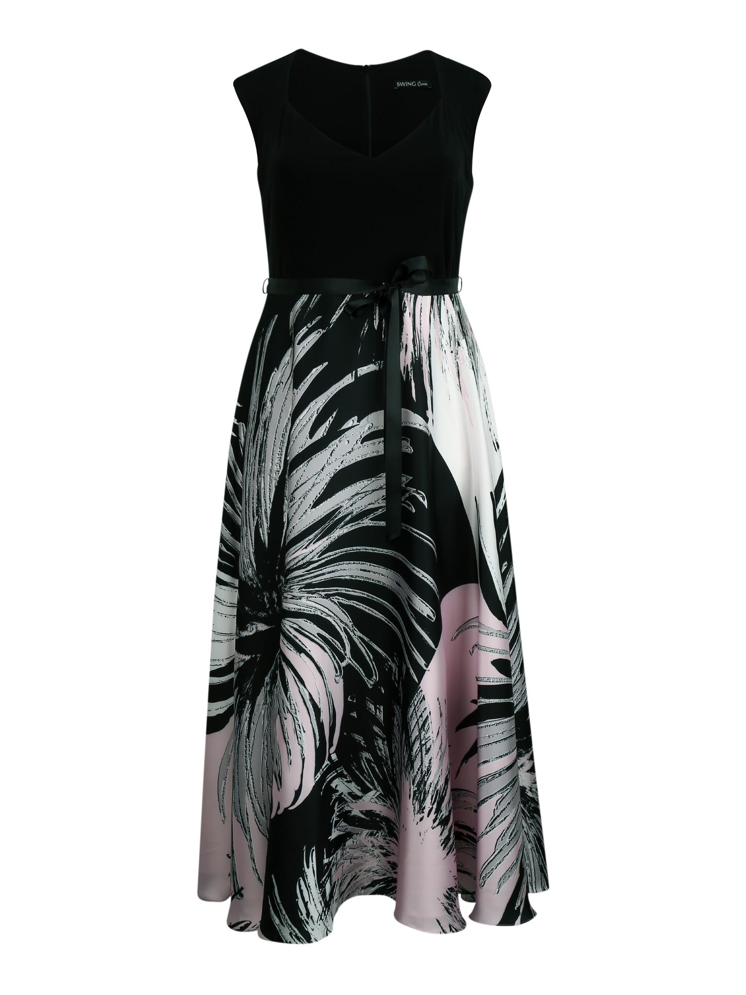 SWING Curve Suknelė rožių spalva / juoda