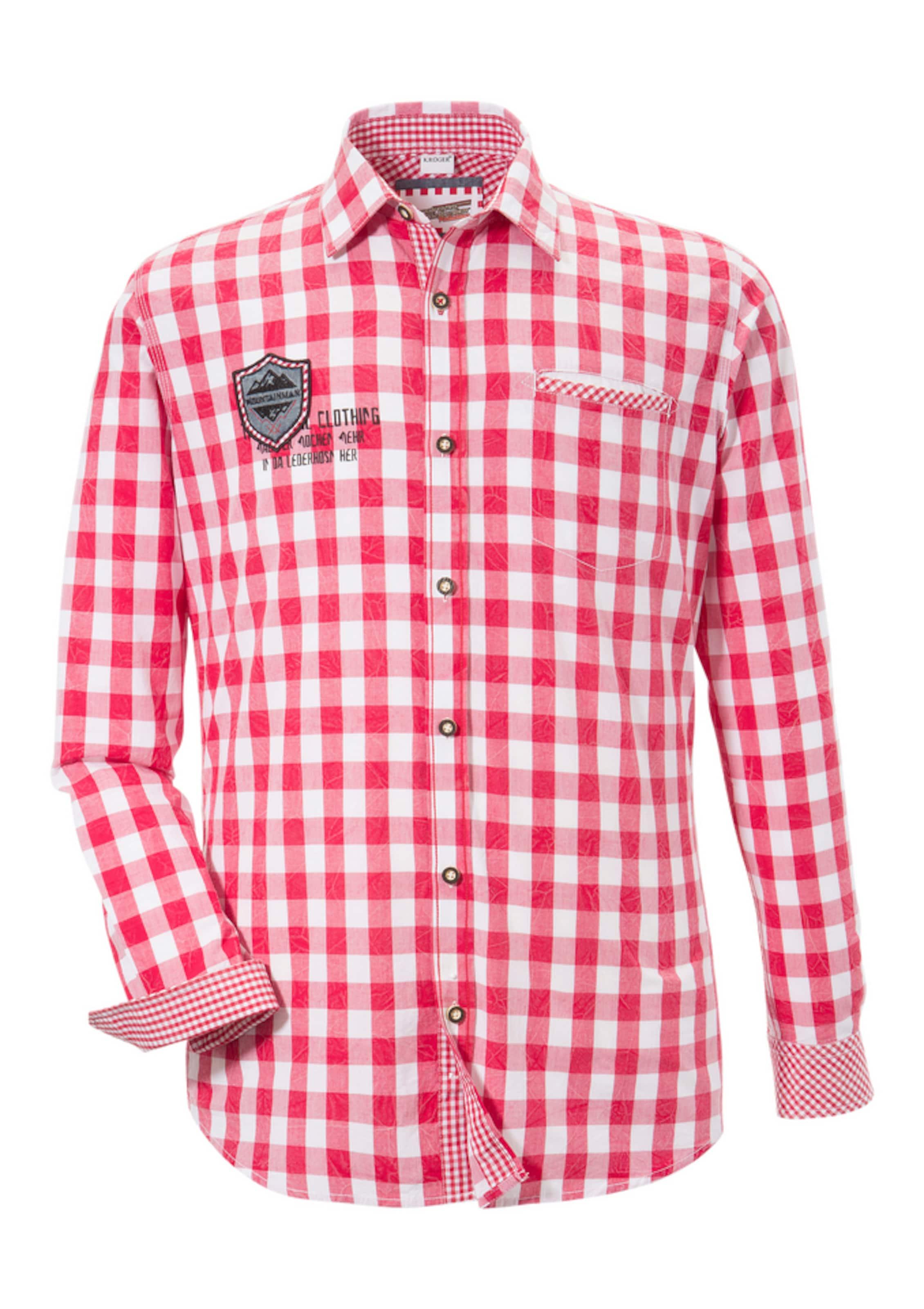 Herren Andreas Gabalier Kollektion Trachtenhemd blau, rot,  weiß | 04061468142219