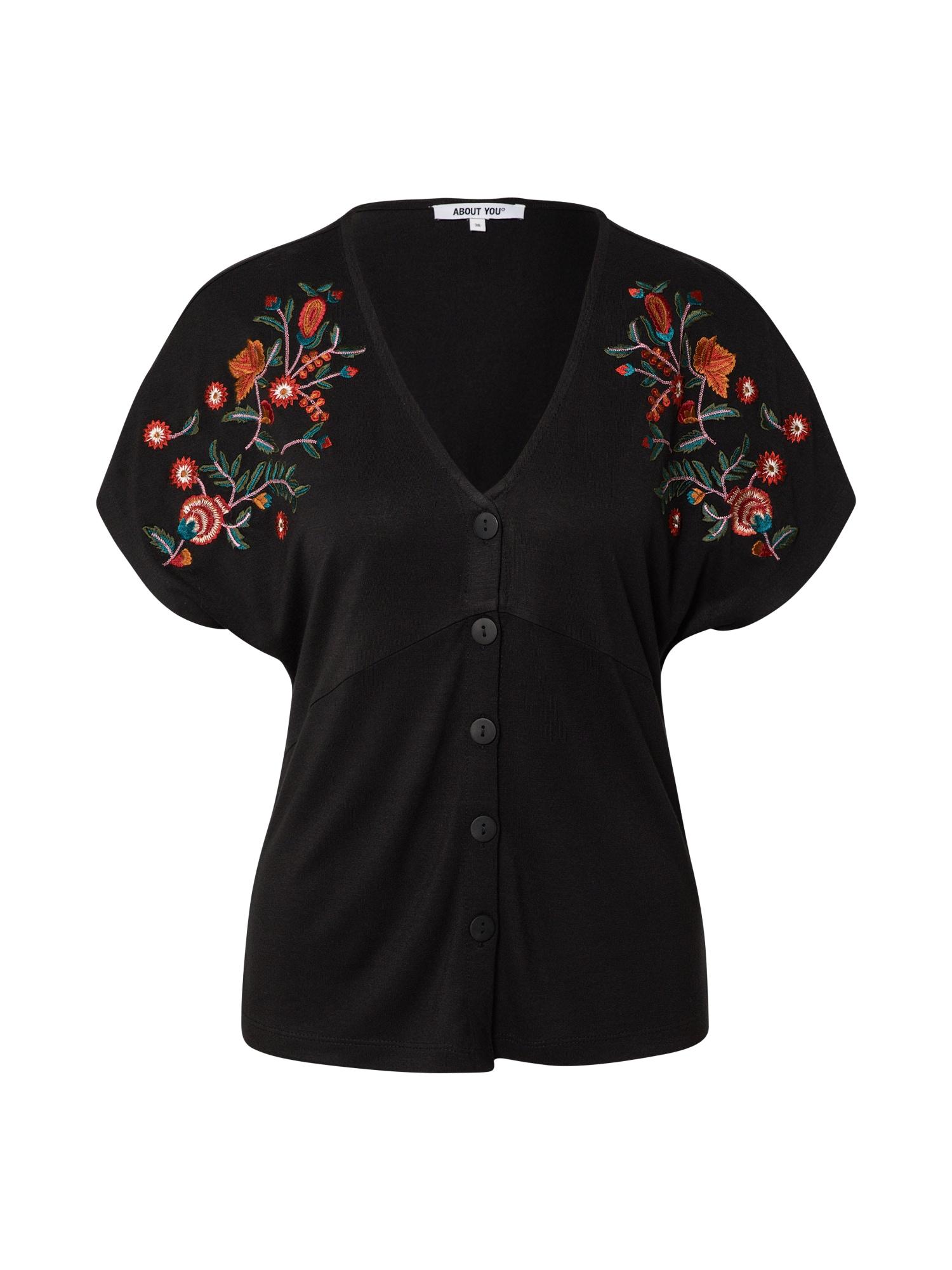 ABOUT YOU Marškinėliai 'Masha' juoda