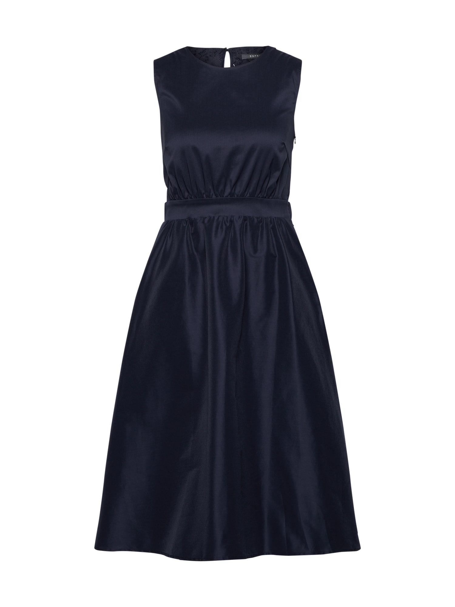 Šaty Silky Shine námořnická modř Esprit Collection
