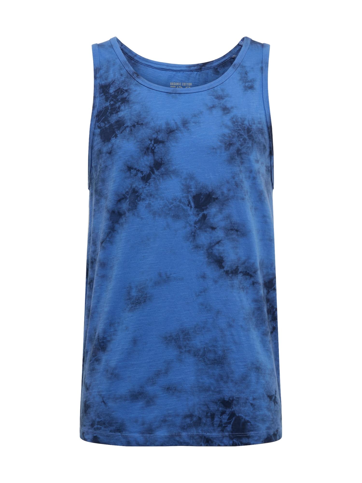 EDC BY ESPRIT Marškinėliai 'OCS slb dye tan' šviesiai mėlyna