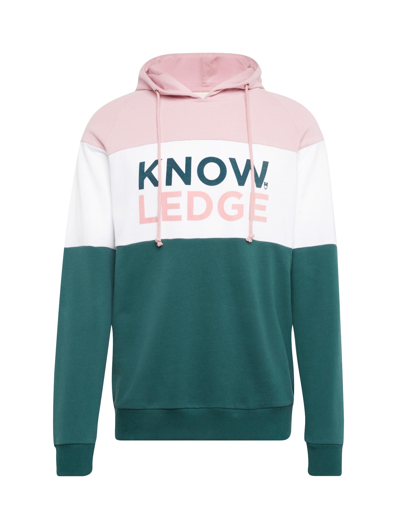 Mikina jedle růžová bílá KnowledgeCotton Apparel