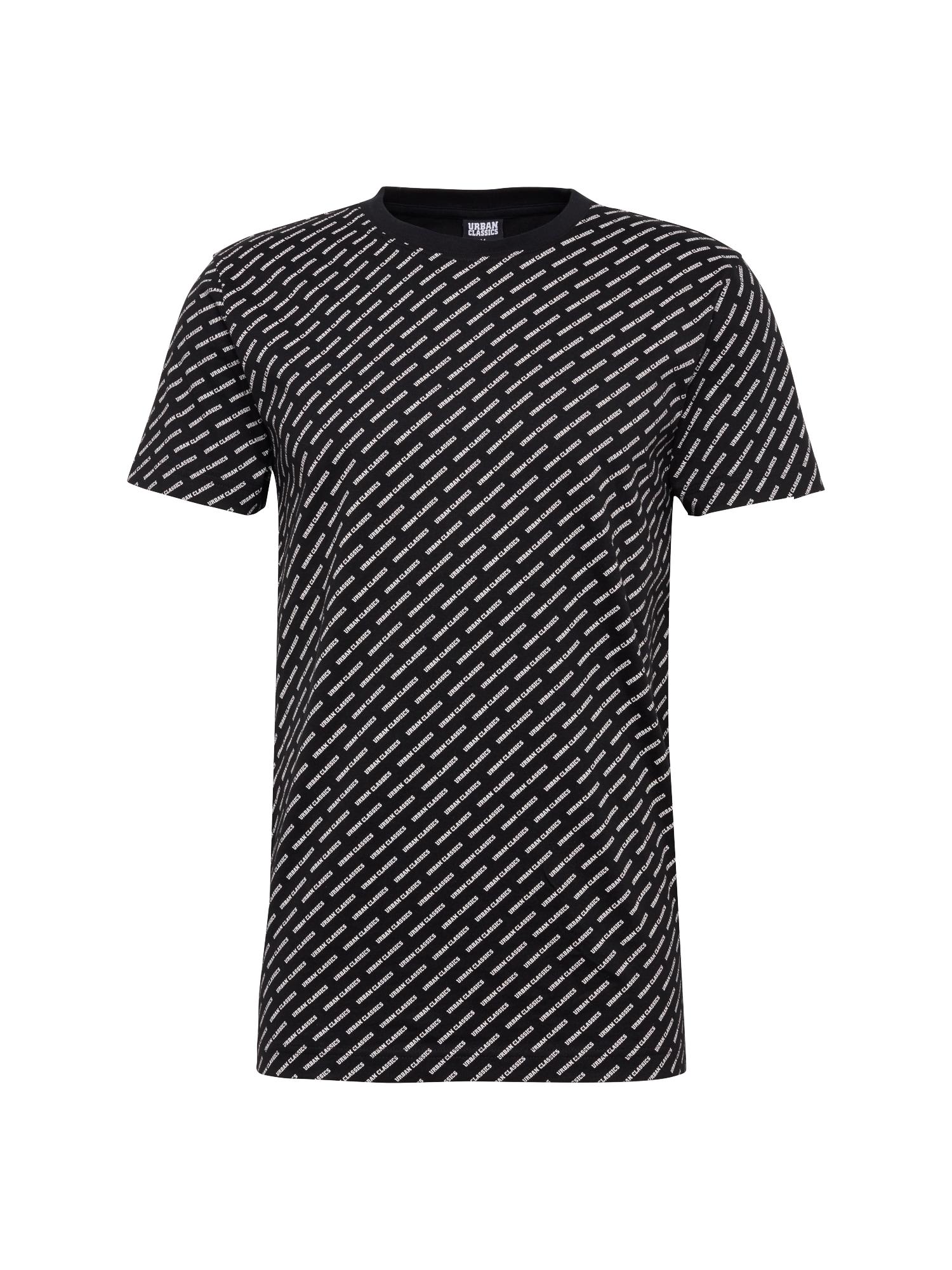 Urban Classics Tričko 'Allover Logo Tee'  čierna / biela