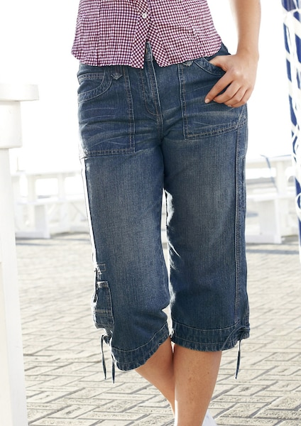 Hosen für Frauen - CHEER Cargohose 'Uschi' blue denim  - Onlineshop ABOUT YOU