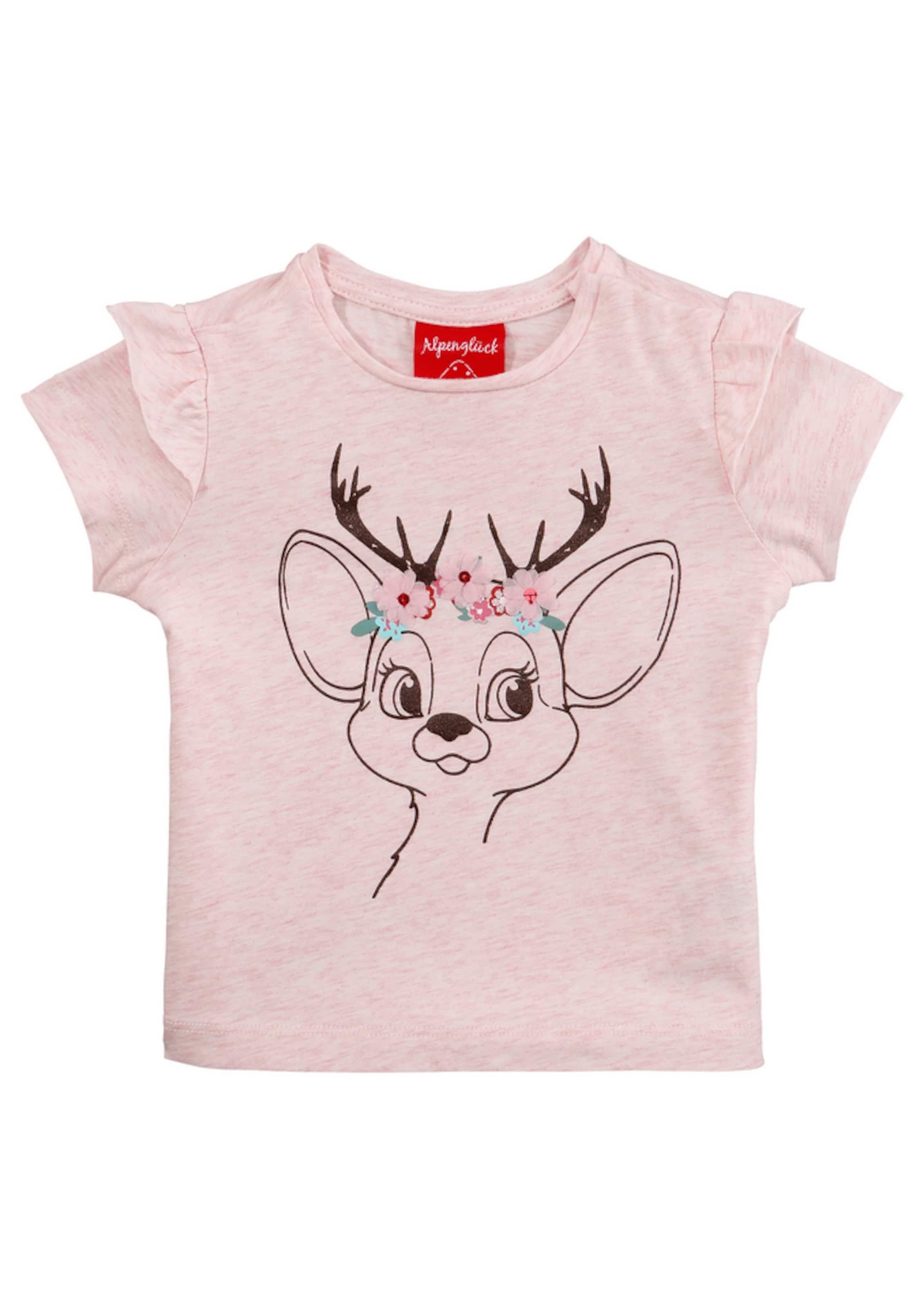 Kinder,  Mädchen,  Kinder BONDI Trachtenshirt in leichter A-Linen-Form rosa |