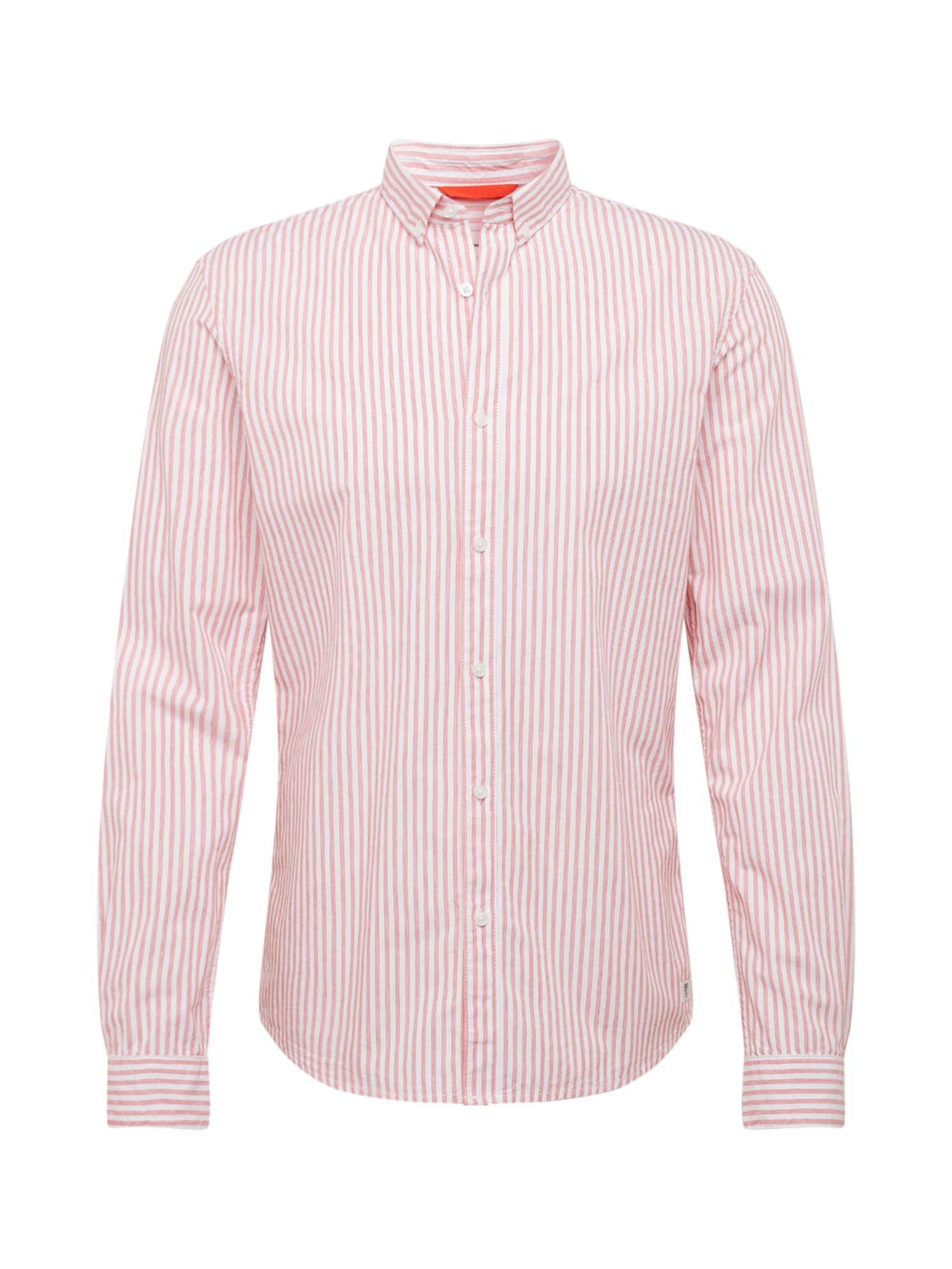 TOM TAILOR DENIM Košeľa  červené / biela