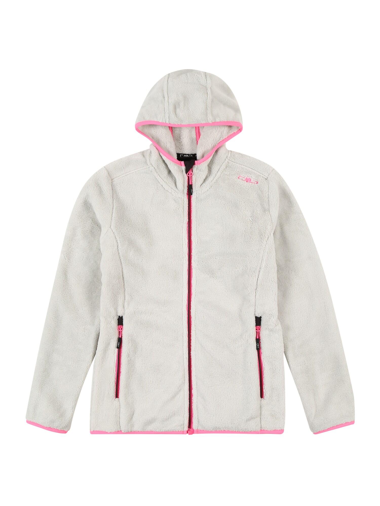 CMP Funkcinis flisinis džemperis balta / rožinė