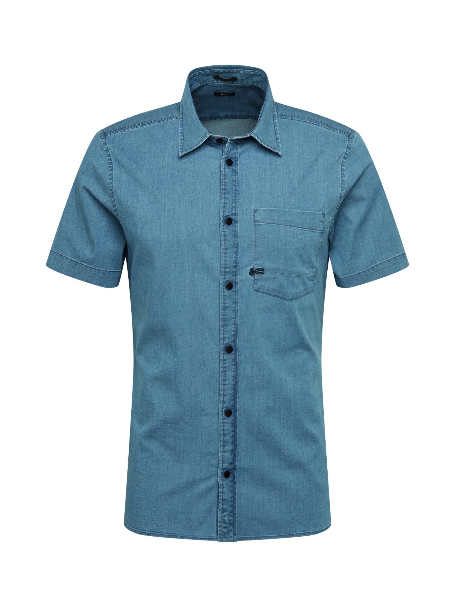 DENHAM Marškiniai mėlyna