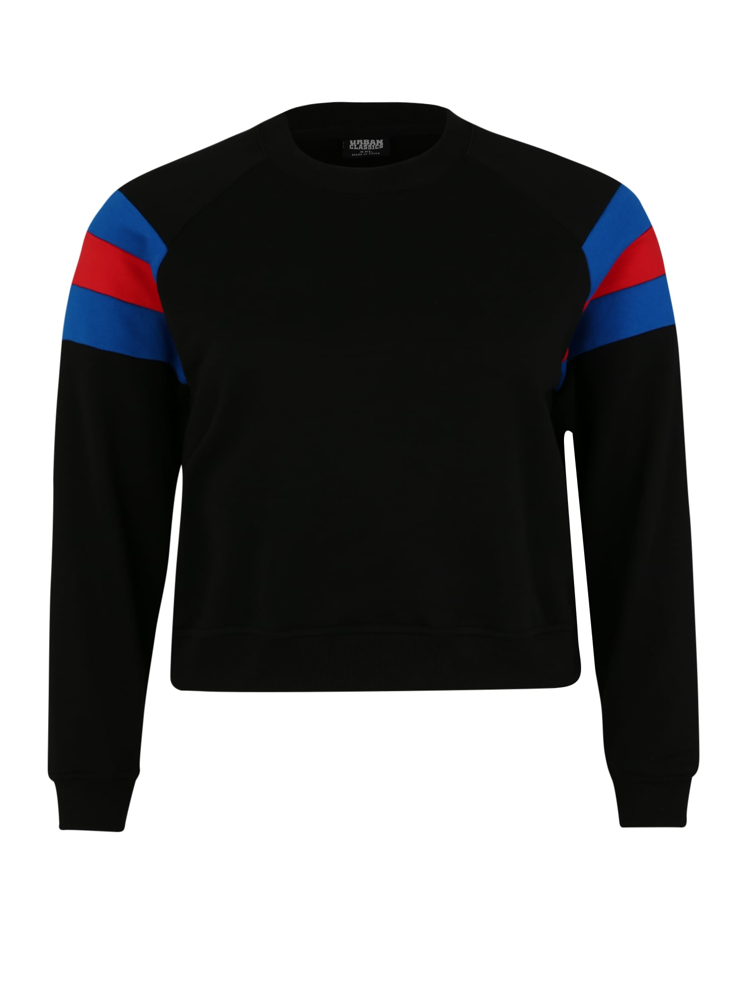 Urban Classics Curvy Megztinis be užsegimo mėlyna / raudona / juoda