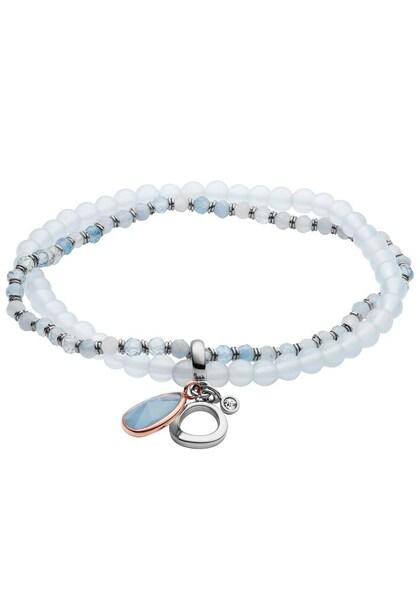 Armbaender für Frauen - FOSSIL Armband 'Vintage Iconic, JF03074998' hellblau silber weiß  - Onlineshop ABOUT YOU