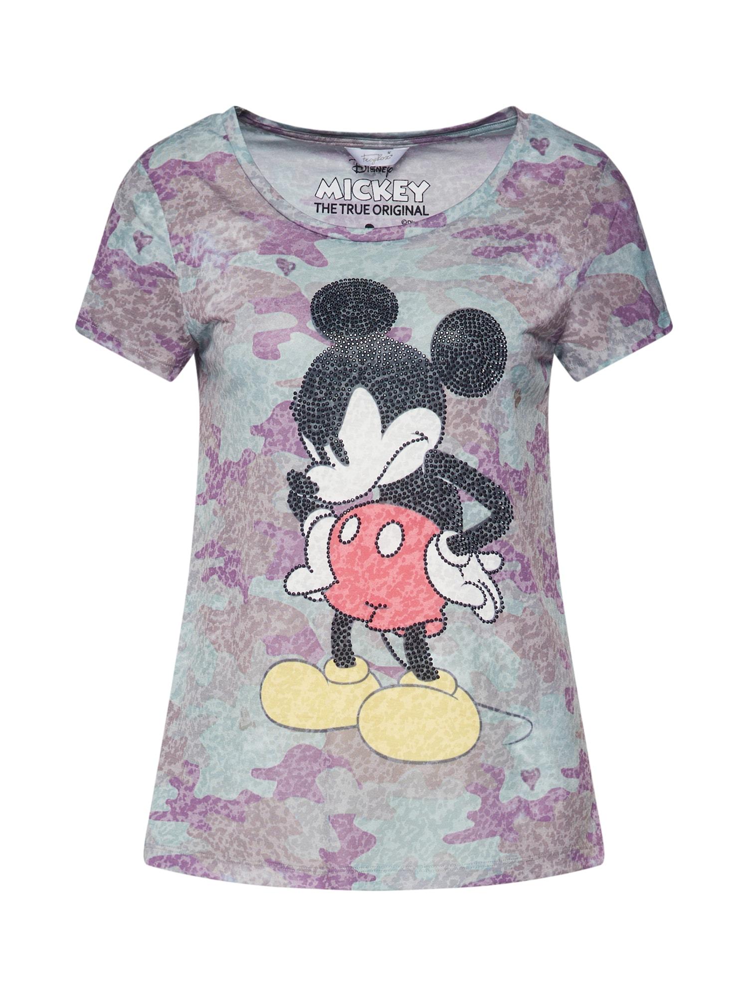 Frogbox Tričko 'Mickey'  svetlofialová / opálová