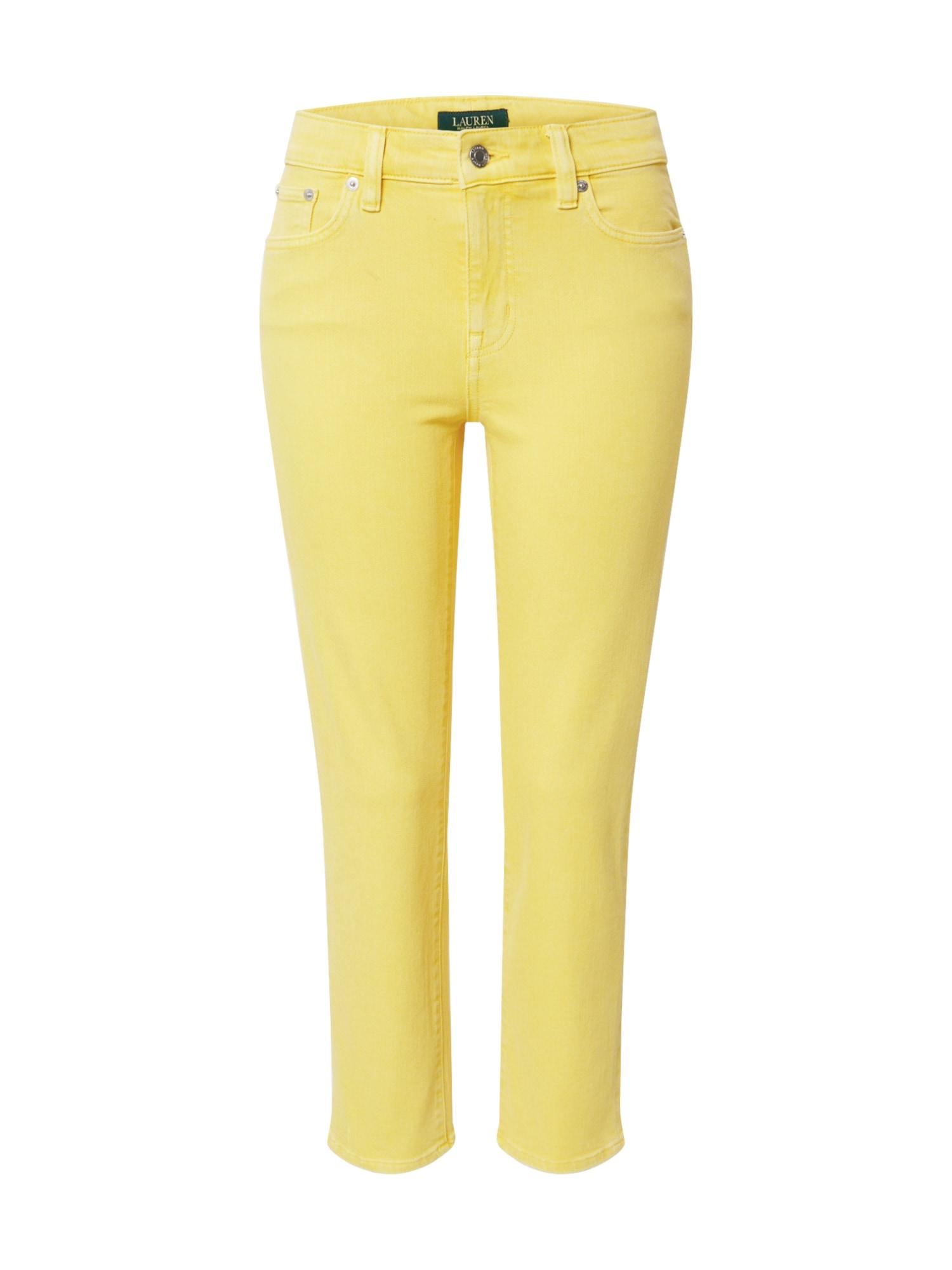 Lauren Ralph Lauren Džínsy  žlté
